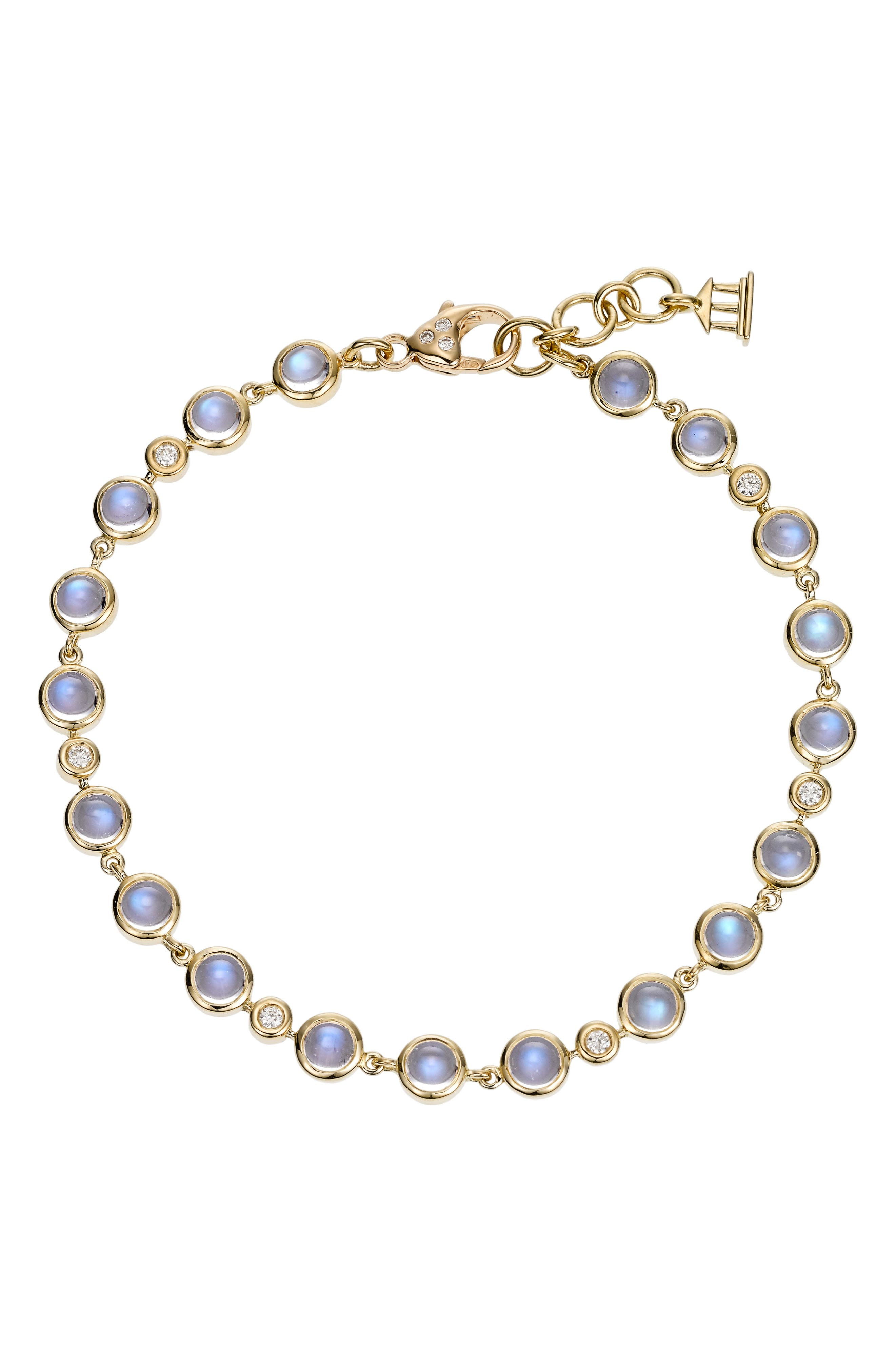 Temple St. Clair Diamond & Moonstone Bracelet,                             Main thumbnail 1, color,                             D0.213 Gvs1 Bm 18Kyg