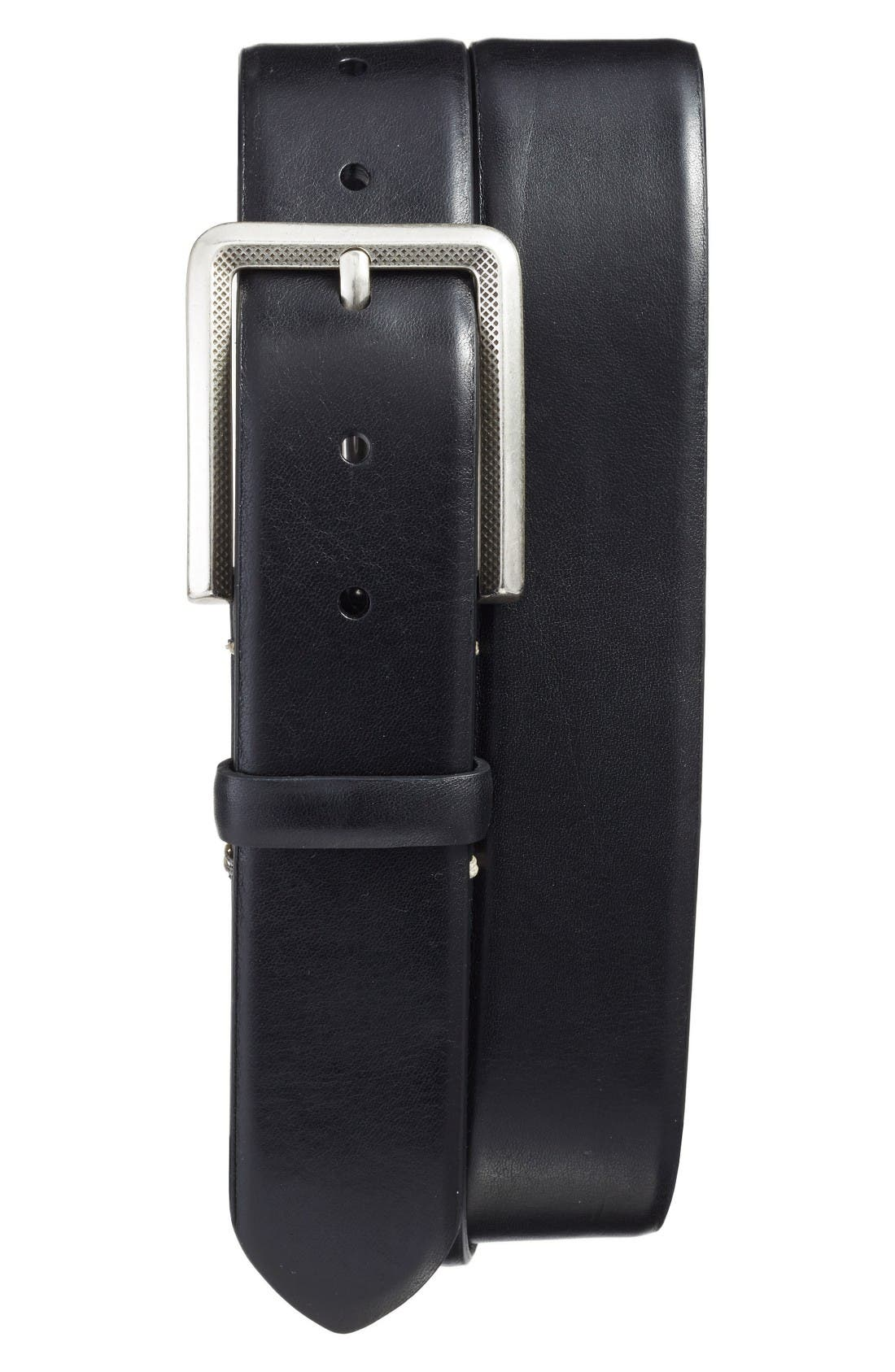Vaqueta Leather Belt,                         Main,                         color, Black