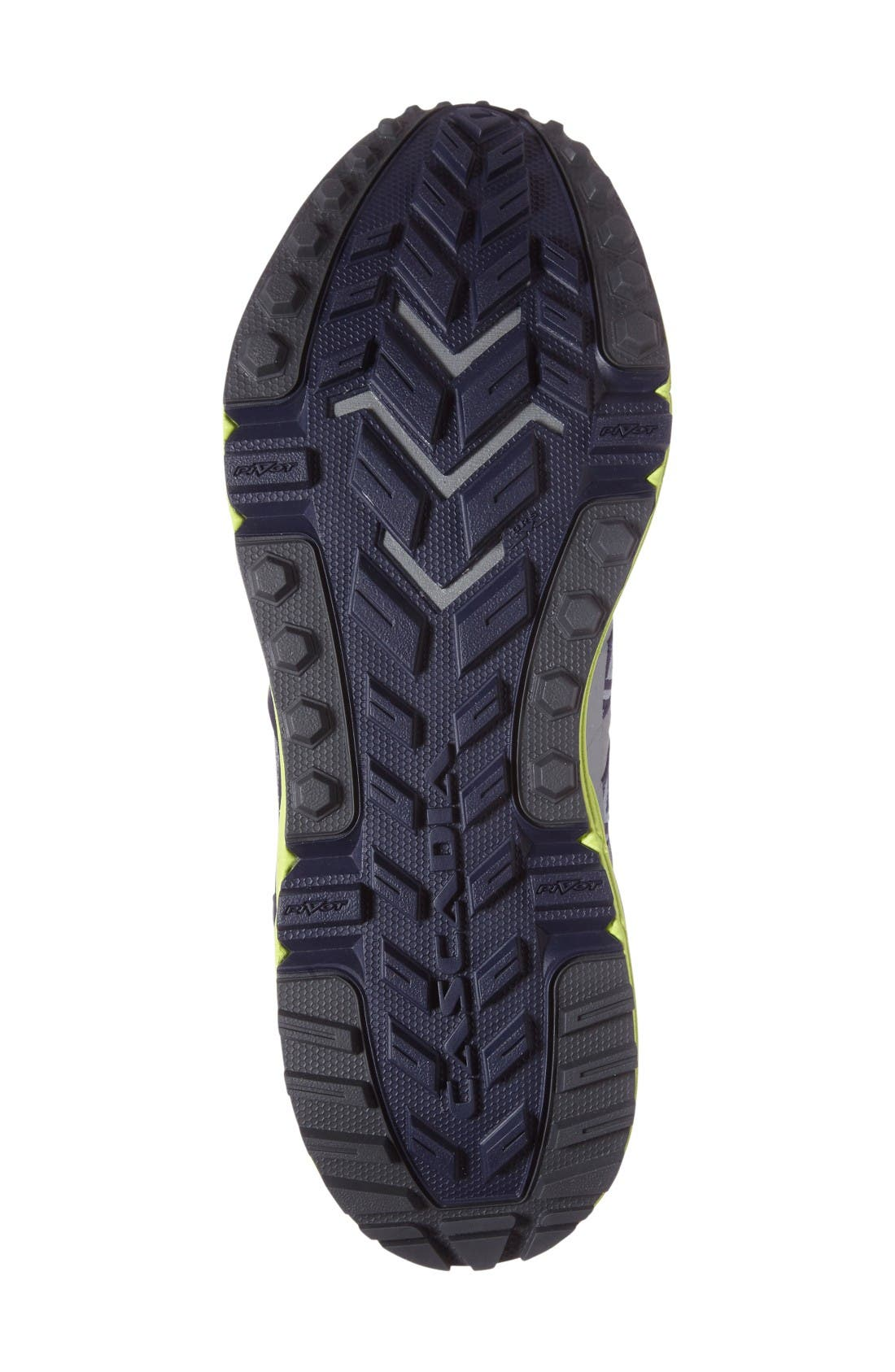 Cascadia 12 Trail Running Shoe,                             Alternate thumbnail 4, color,                             Grey/ Anthracite/ Lime Punch