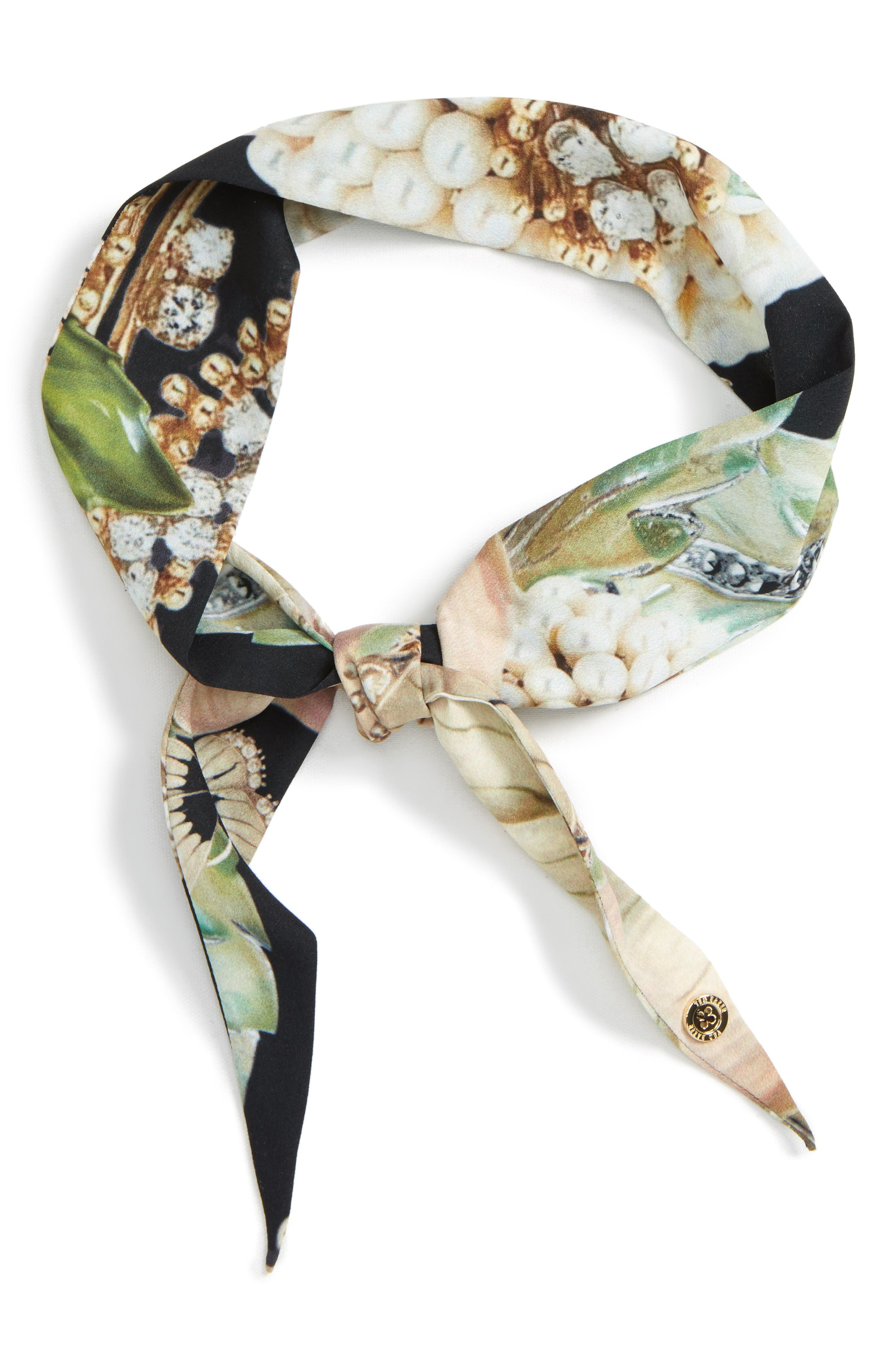 Ted Baker London Gem Gardens Skinny Scarf
