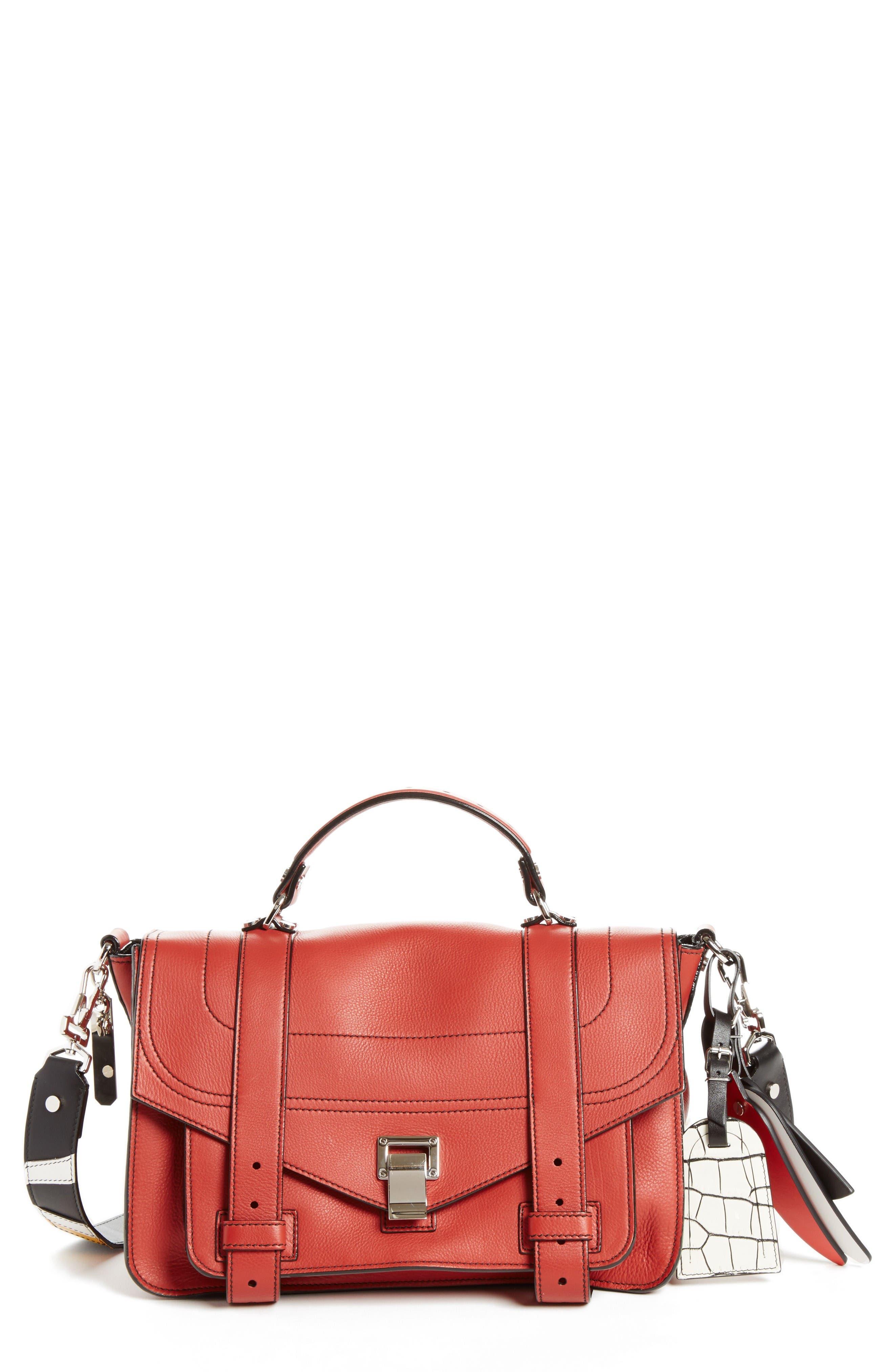 Proenza Schouler Medium PS1 Patchwork Leather Satchel
