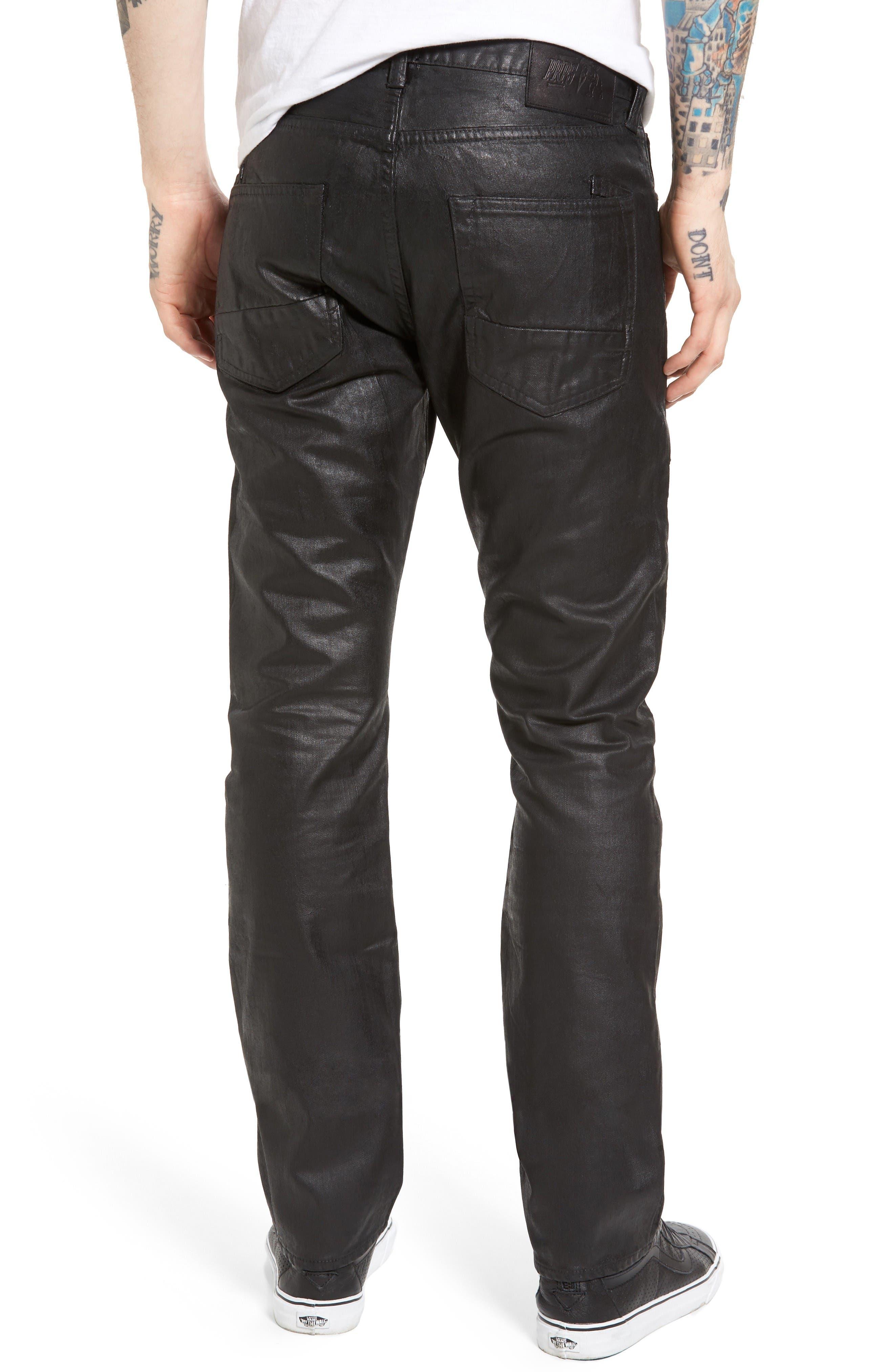 Alternate Image 2  - PRPS Demon Slim Straight Coated Jeans
