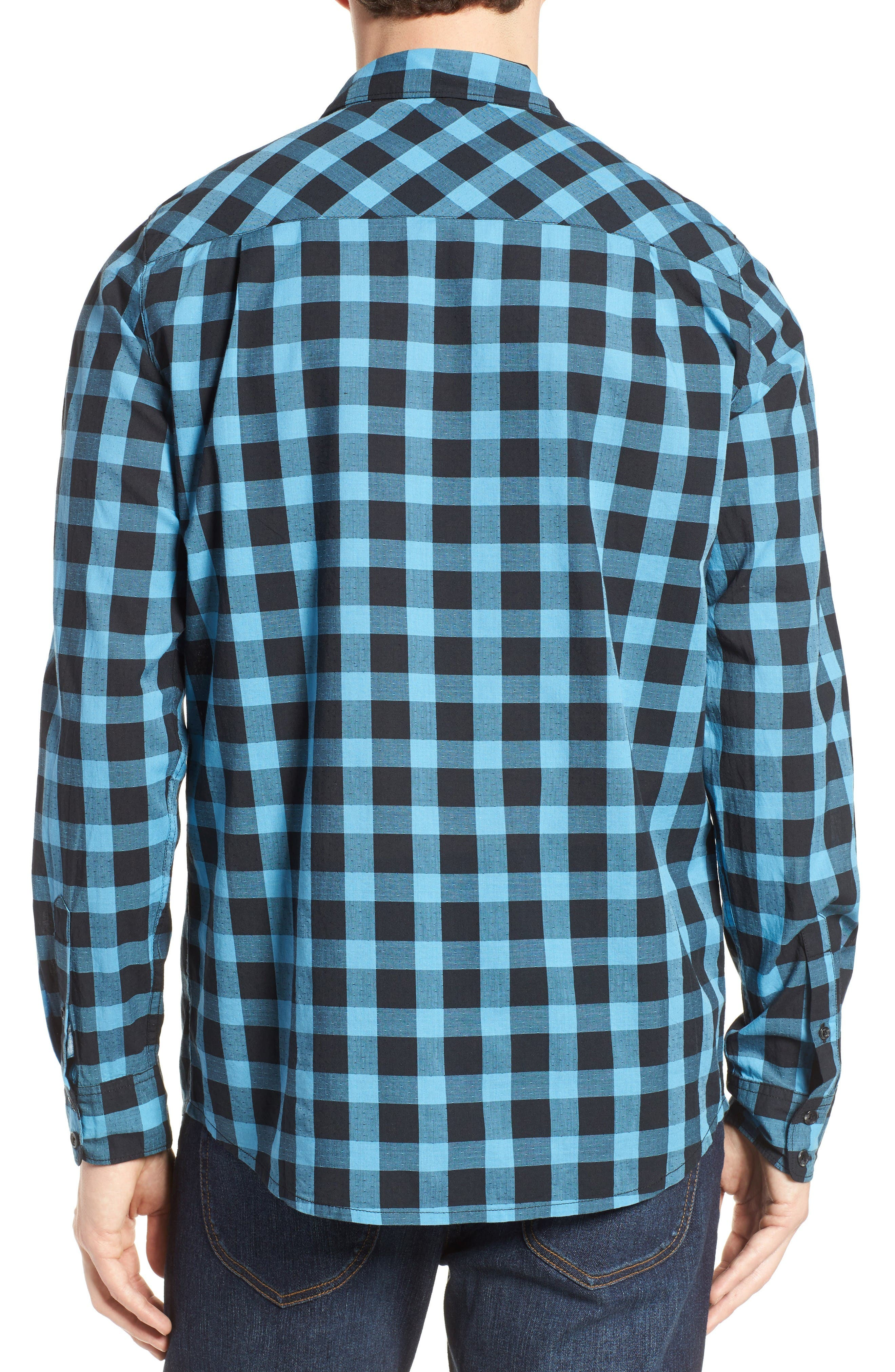 Alternate Image 2  - Travis Mathew Big Cree Slim Fit Dobby Check Sport Shirt