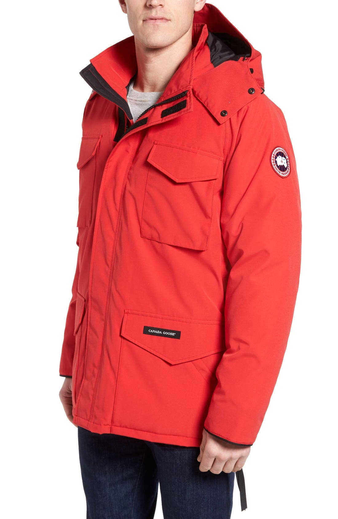 'Constable' Regular Fit Water Resistant Down Parka,                             Main thumbnail 1, color,                             Red