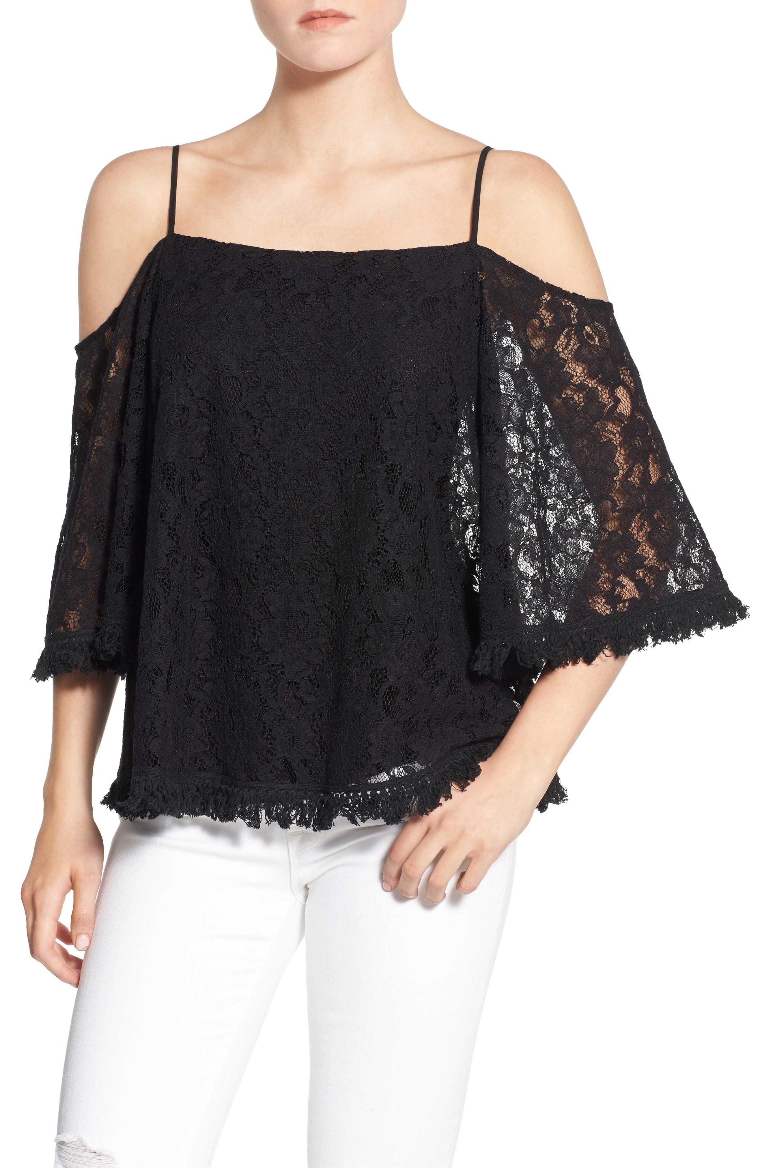 Bailey 44 Tusk Lace Cold Shoulder Top
