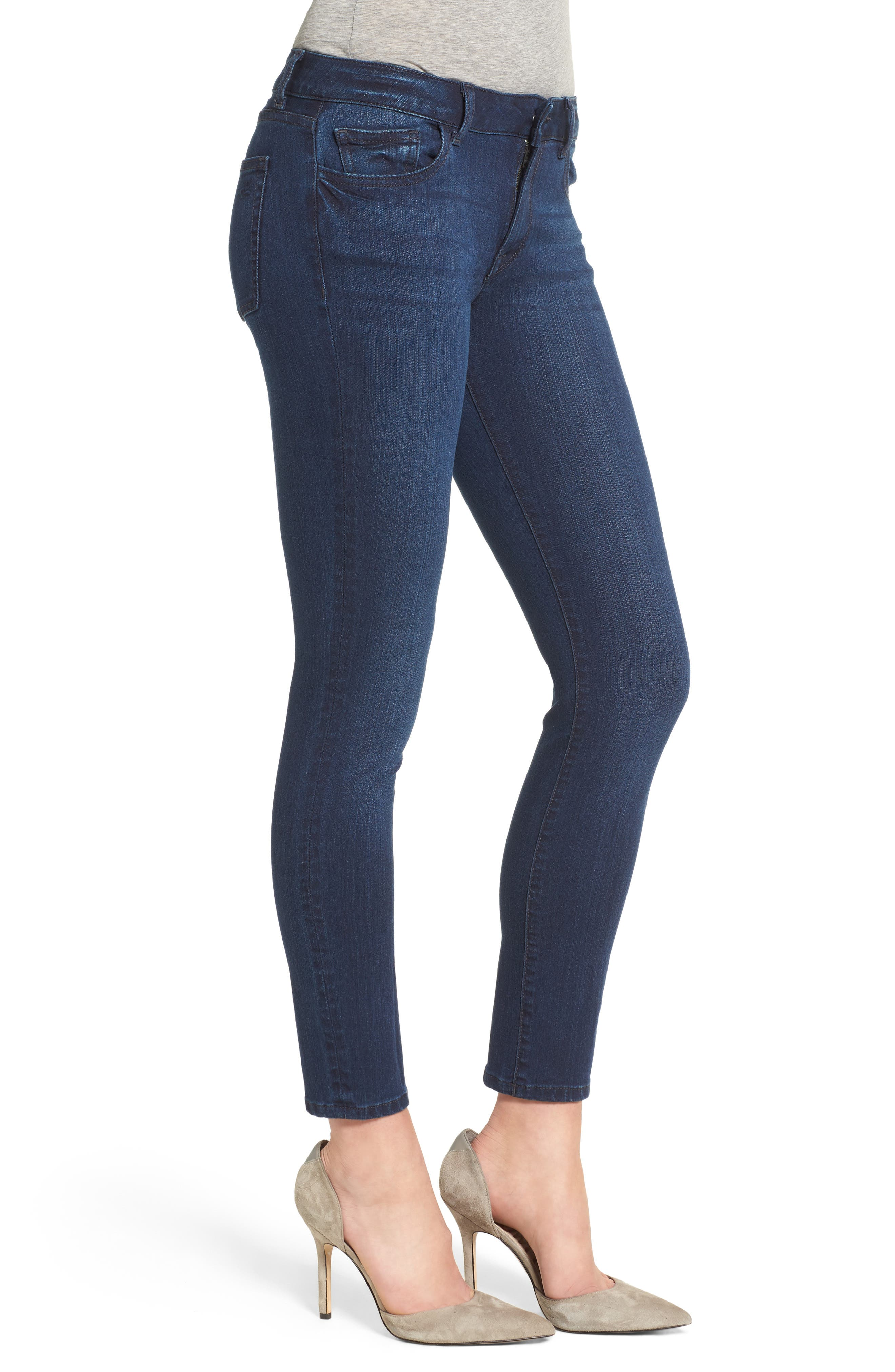 Margaux Instasculpt Ankle Skinny Jeans,                             Alternate thumbnail 3, color,                             Moscow