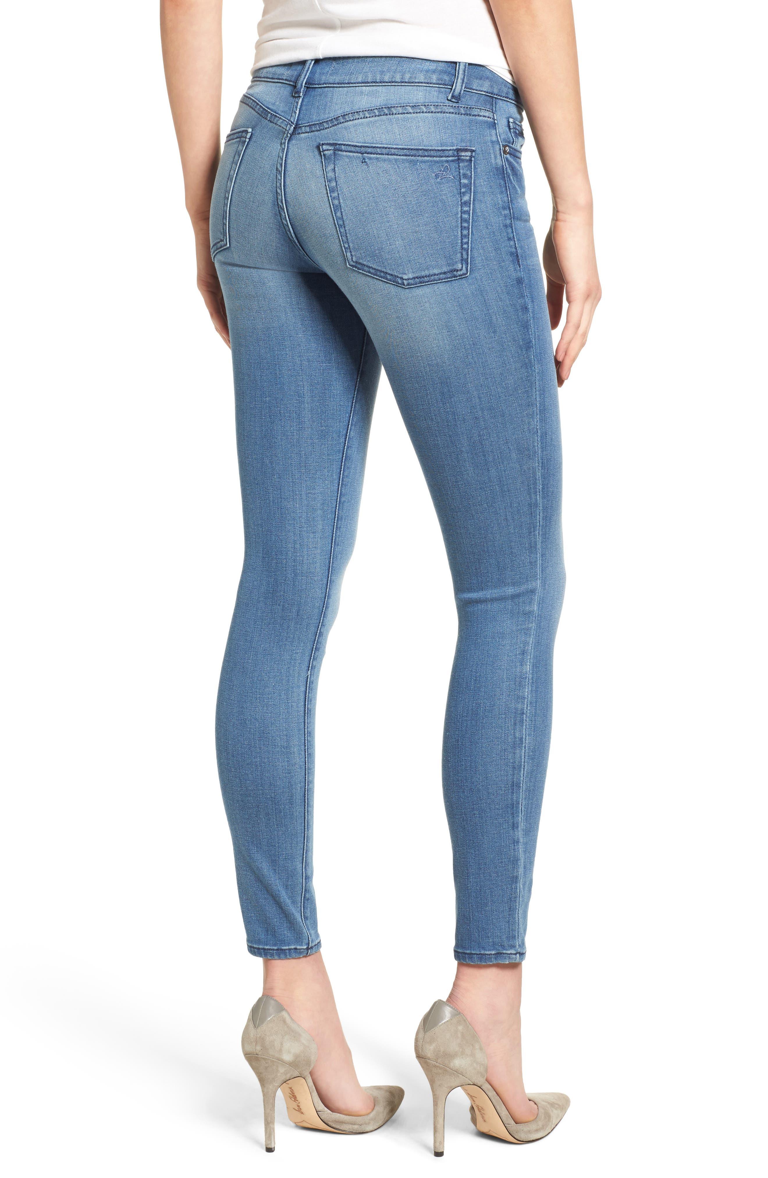 Florence Instasculpt Skinny Jeans,                             Alternate thumbnail 2, color,                             Godiva