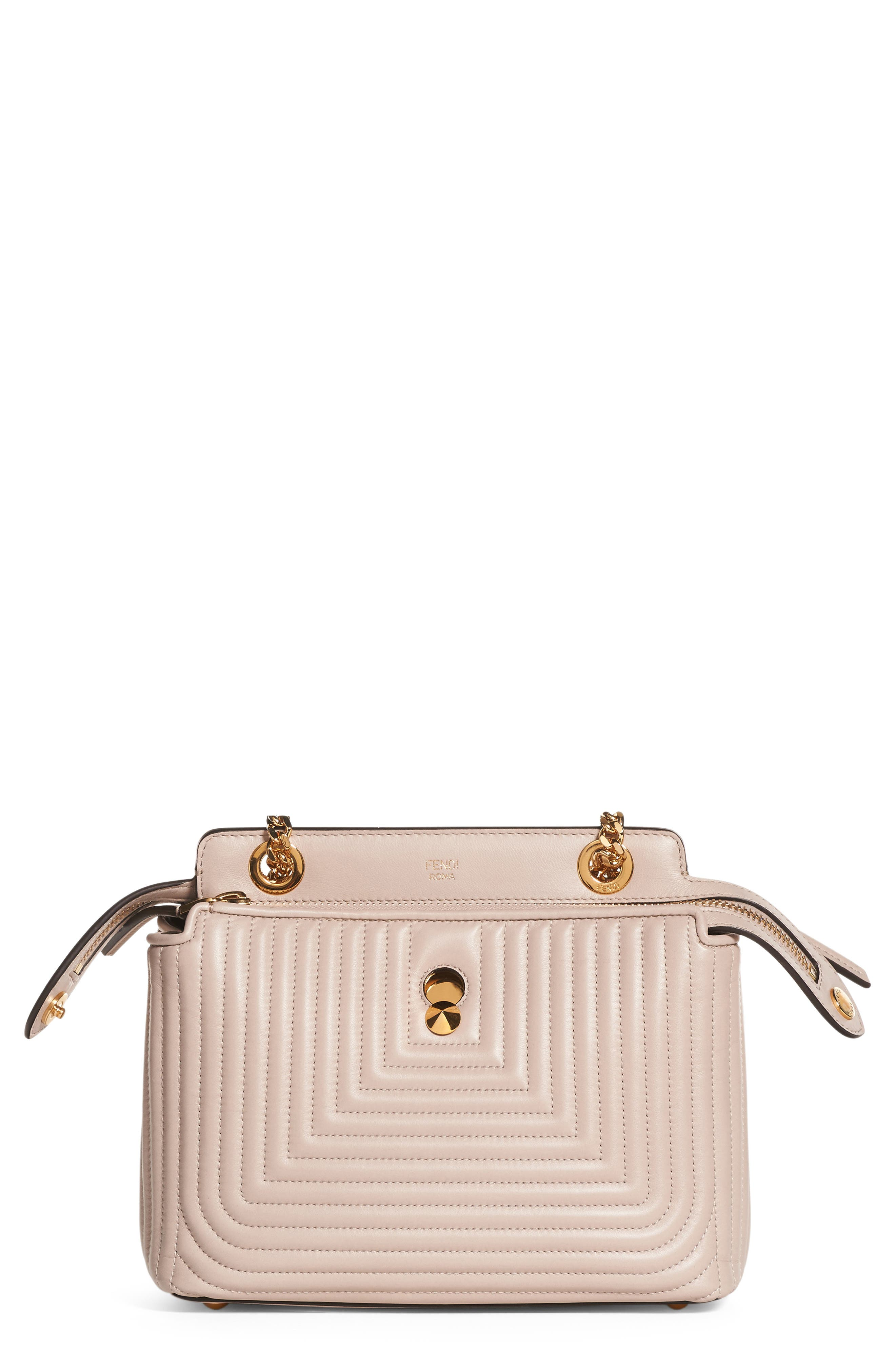 Fendi DOTCOM Click Quilted Leather Satchel
