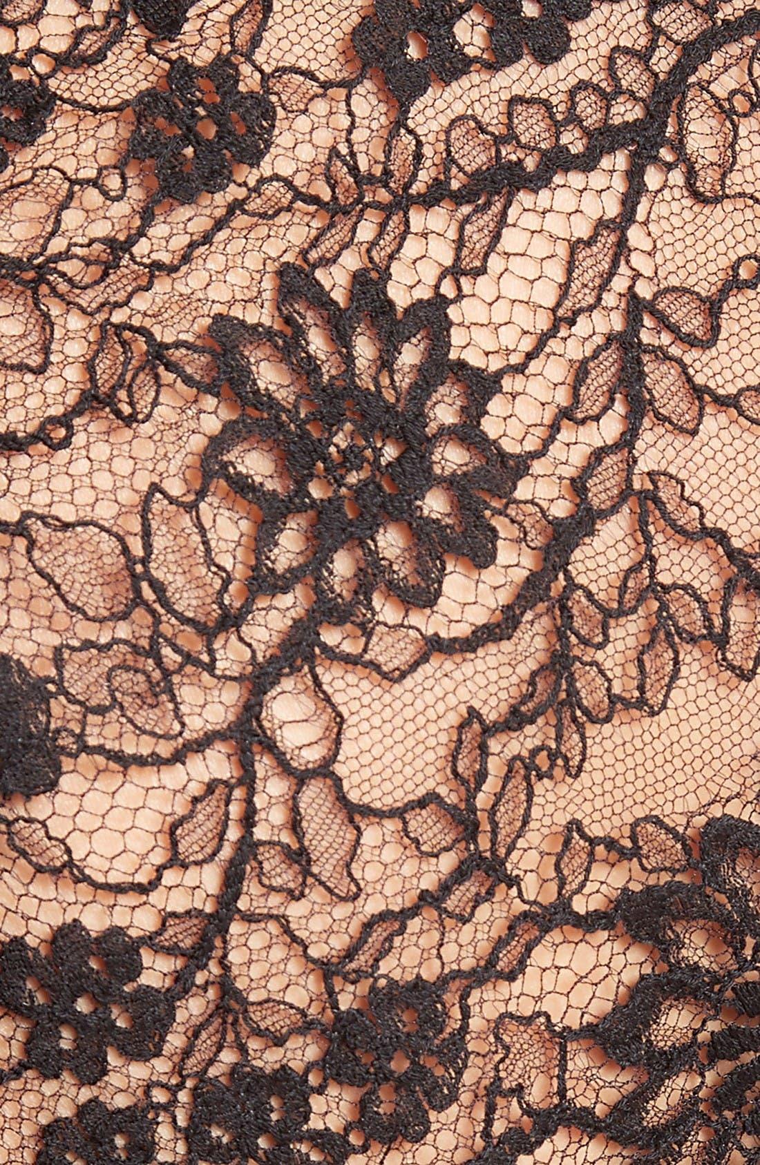 Alternate Image 3  - Oscar de la Renta Tie Back Lace Bolero