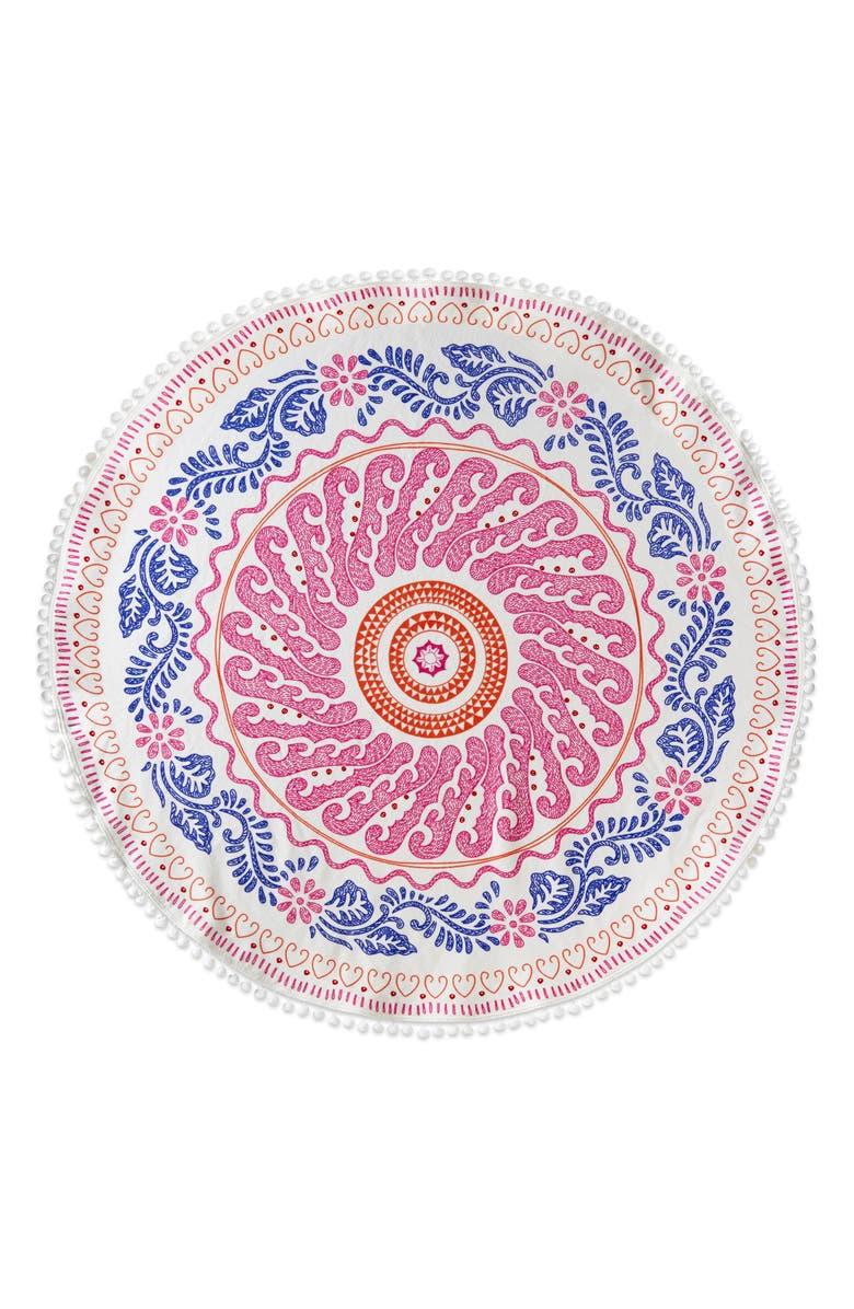 Cita Round Resort Towel,                         Main,                         color, Pink