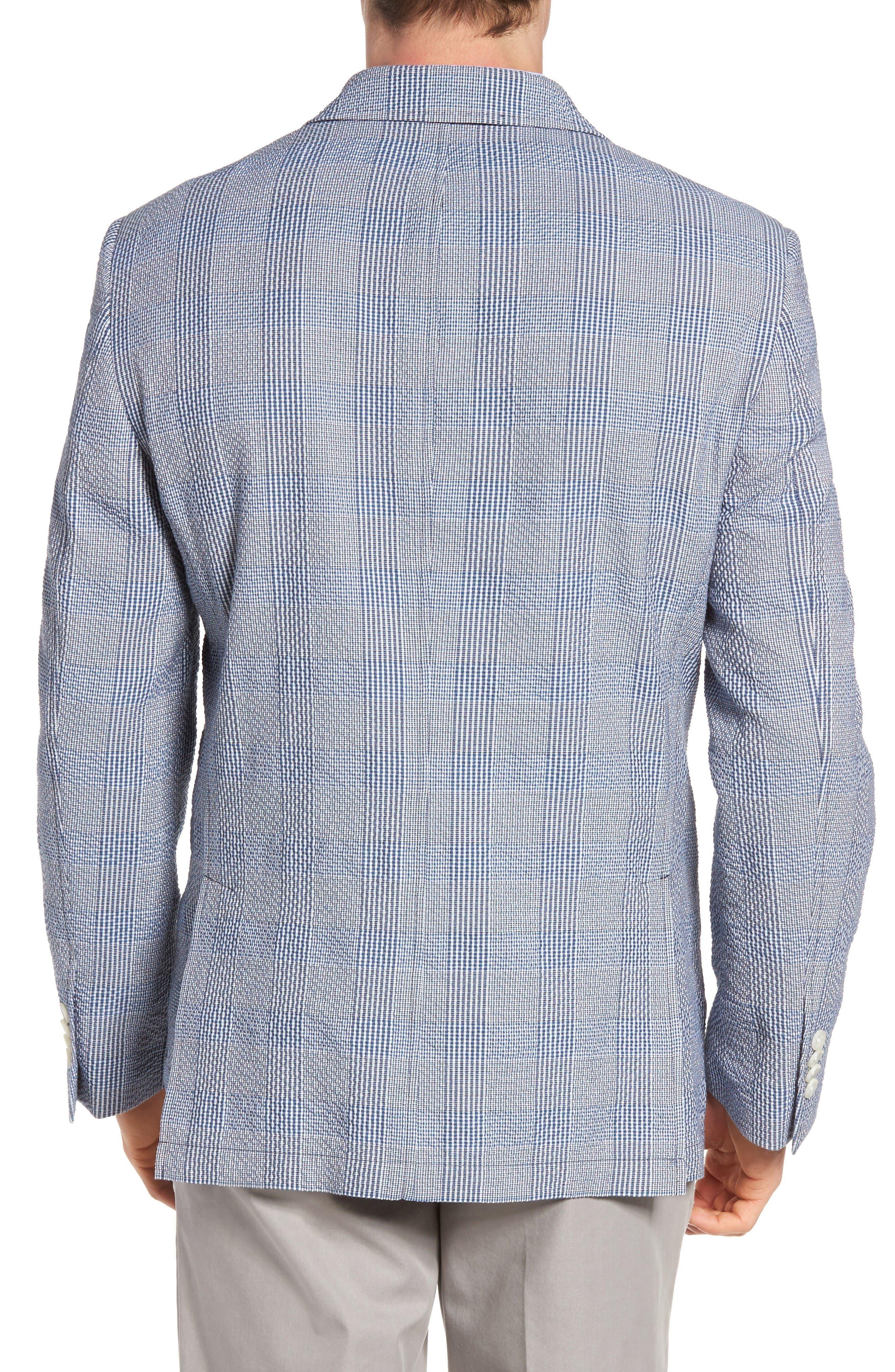Babbitt Plaid Seersucker Sport Coat,                             Alternate thumbnail 2, color,                             Blue