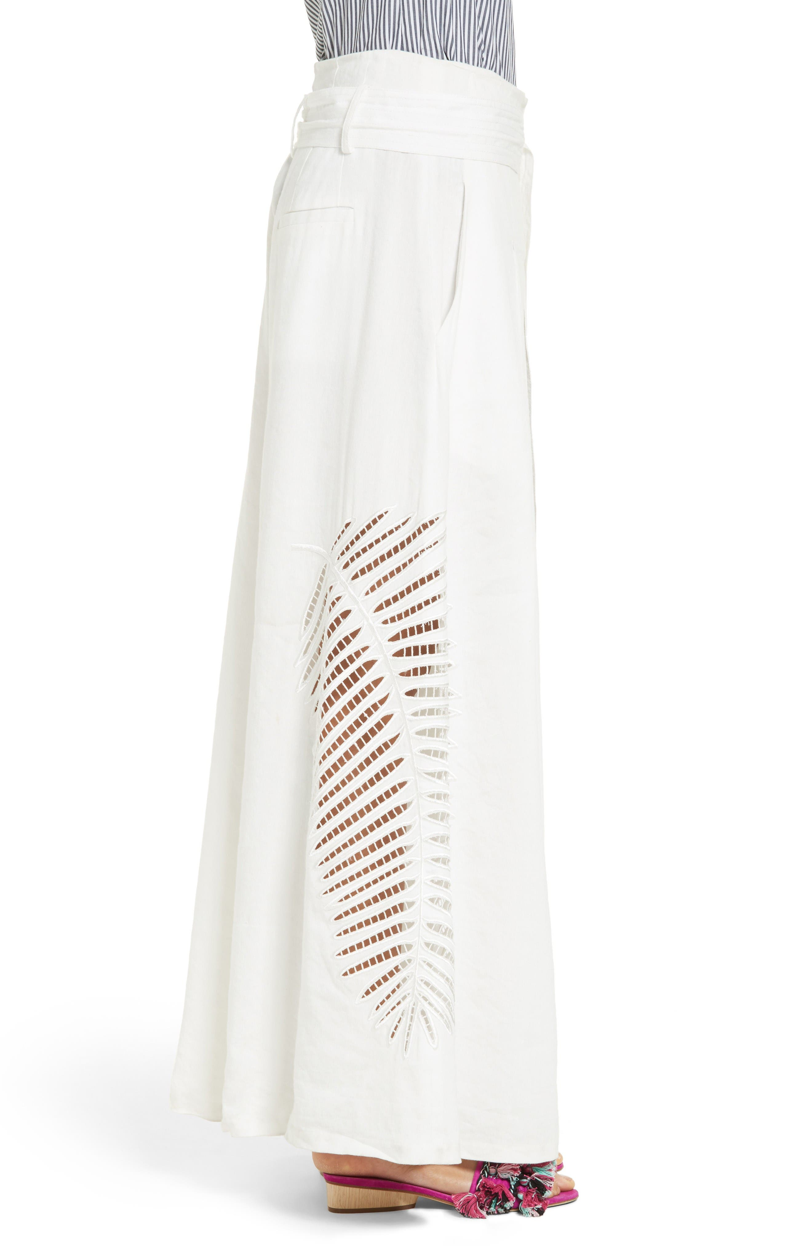 Alternate Image 3  - Tanya Taylor Lulu Palm Embroidered Pants