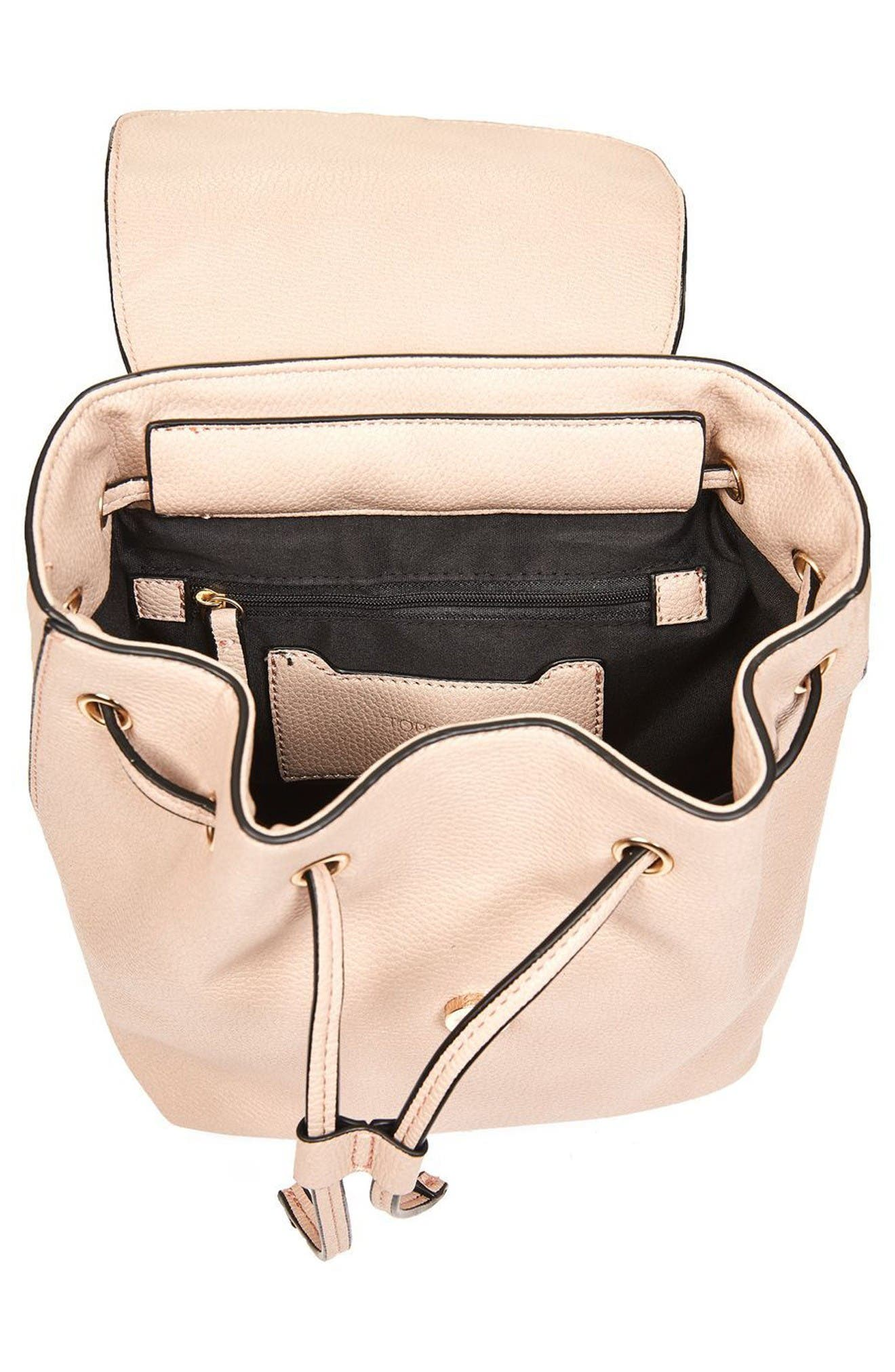 Alternate Image 4  - Topshop Mini Glasgow Faux Leather Backpack