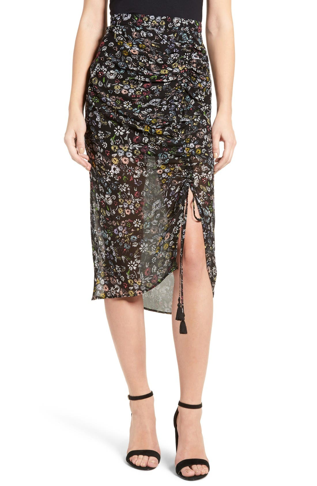 Alternate Image 1 Selected - Rebecca Minkoff Romy Floral Print Skirt