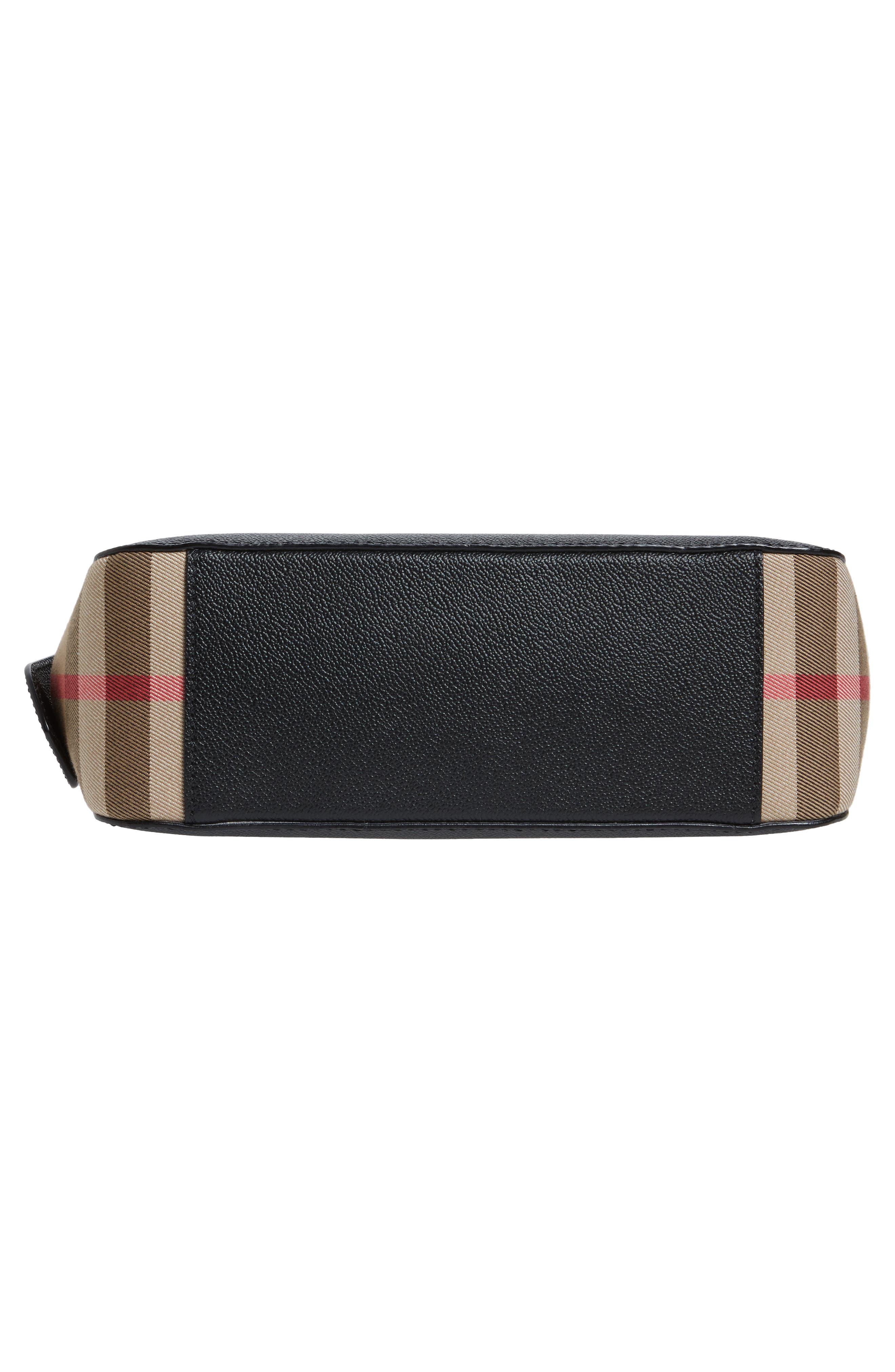 Alternate Image 6  - Burberry Helmsley House Check Leather Crossbody Bag