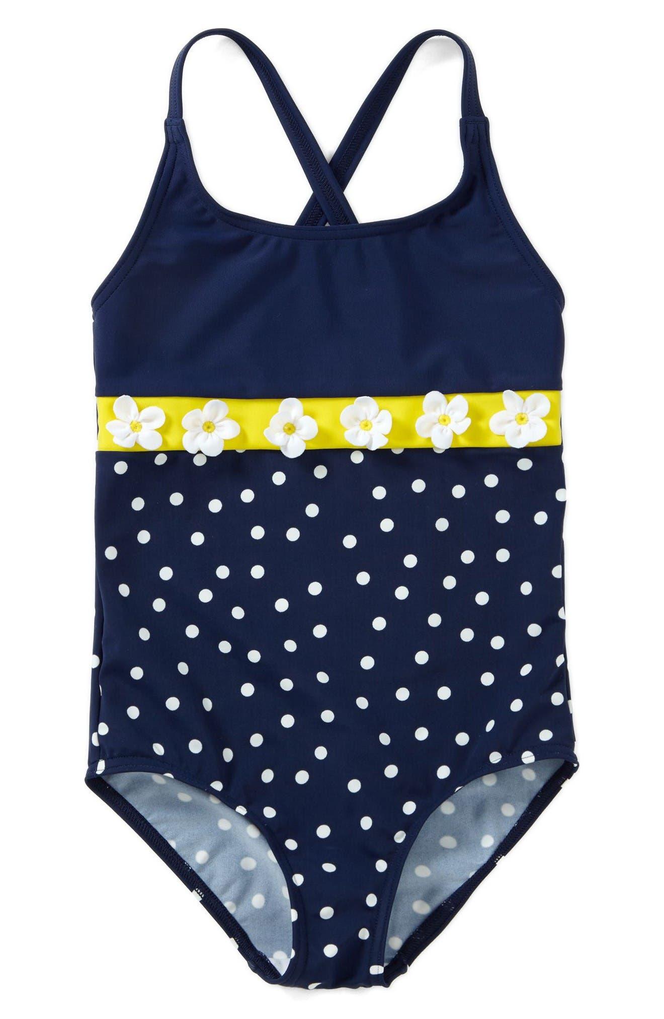 Alternate Image 1 Selected - Mini Boden One-Piece Swimsuit (Toddler Girls, Little Girls & Big Girls)