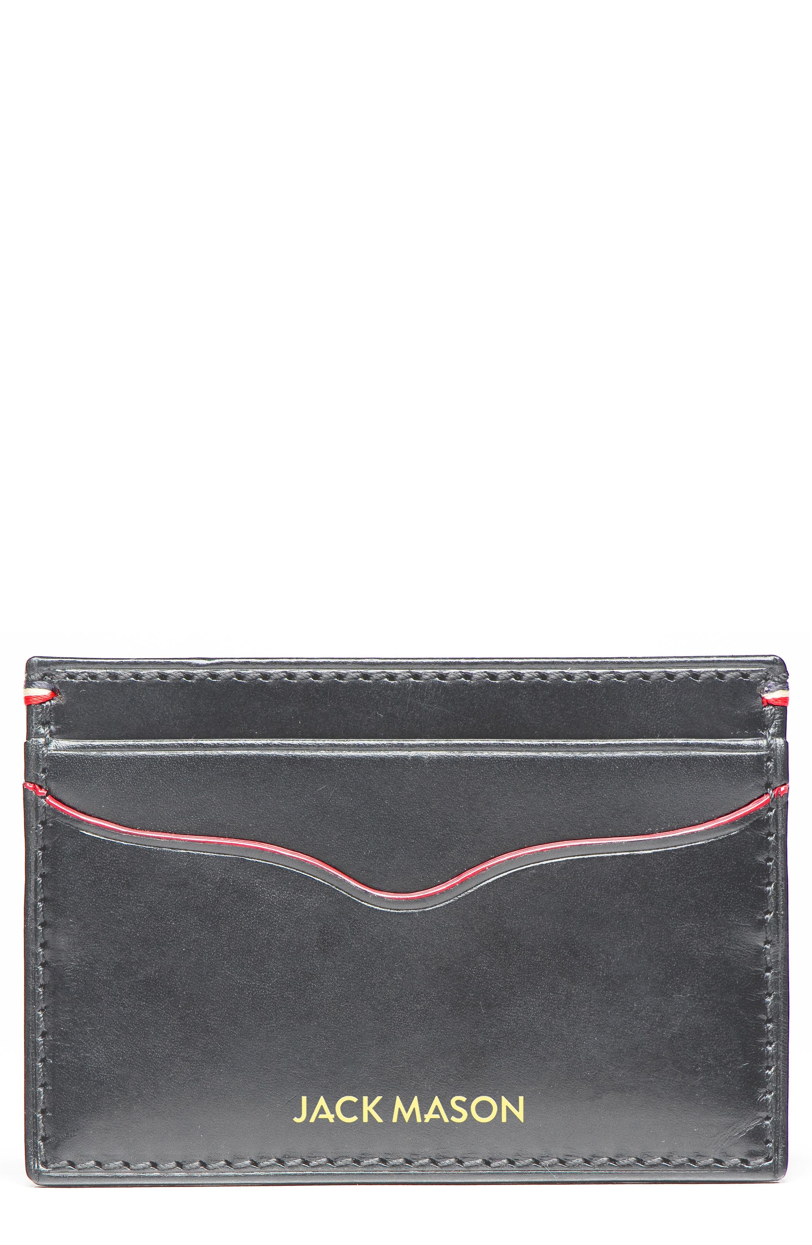 JACK MASON Lux Leather Card Case