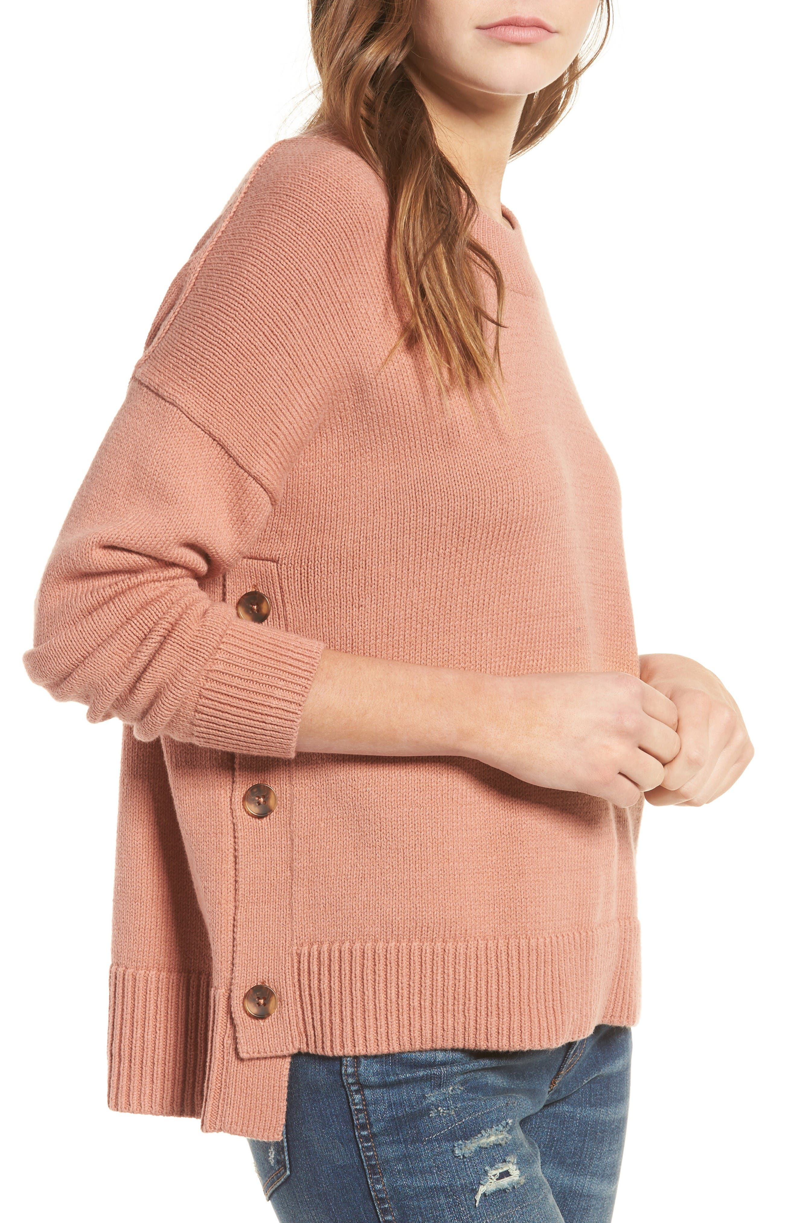 Alternate Image 1 Selected - Madewell Brownstone Side Button Sweater