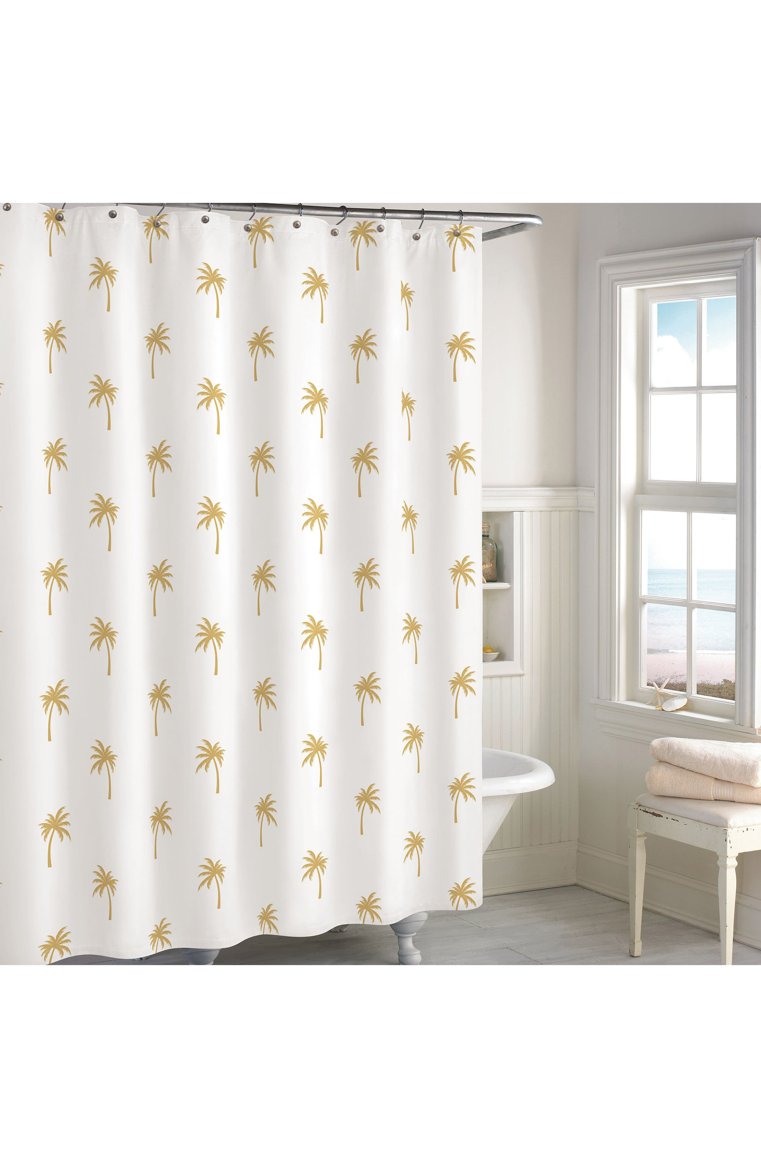 Main Image - Destinations Golden Pineapple Shower Curtain