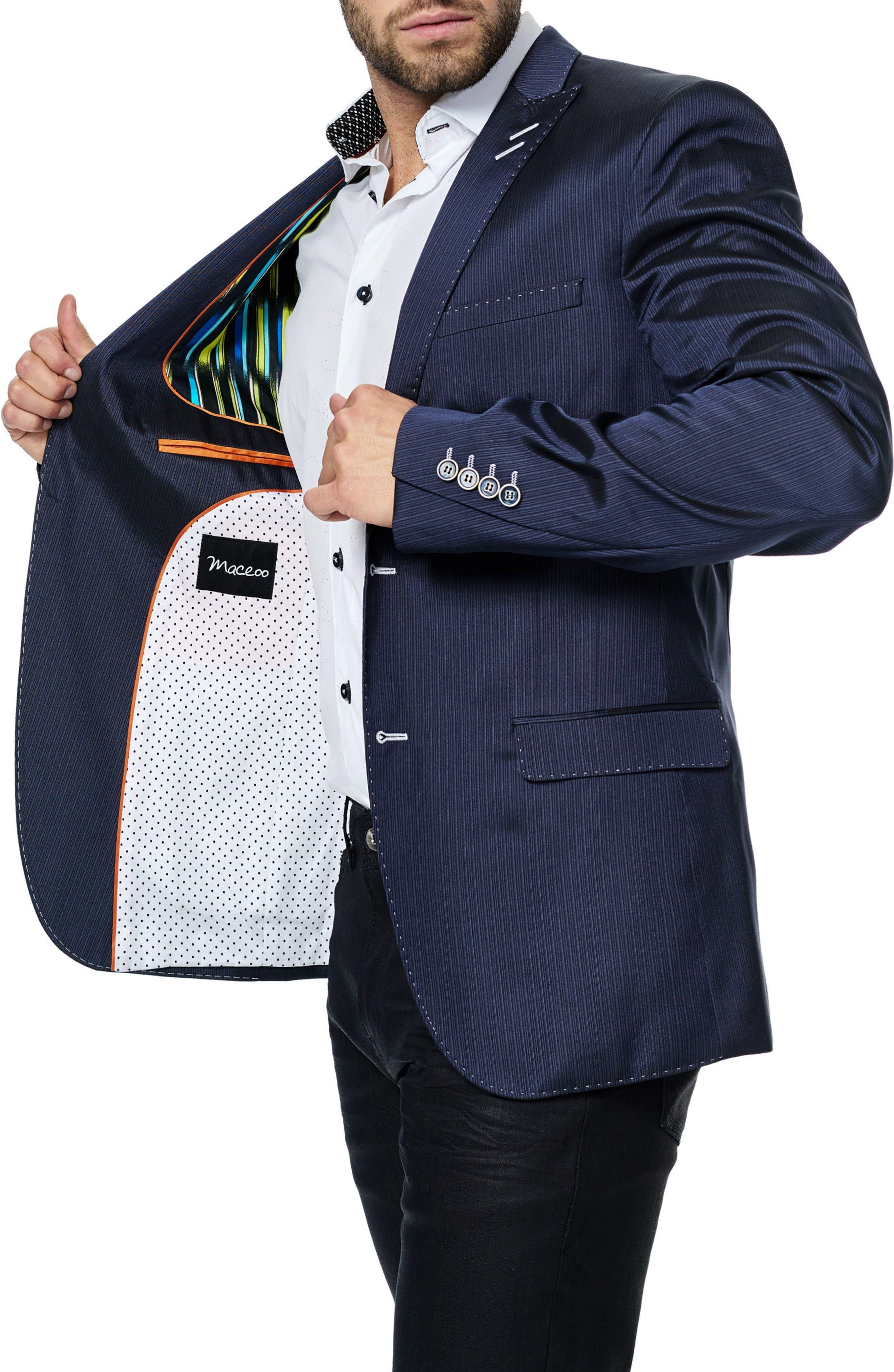 Alternate Image 3  - Maceoo Descartes Stripe Sport Coat
