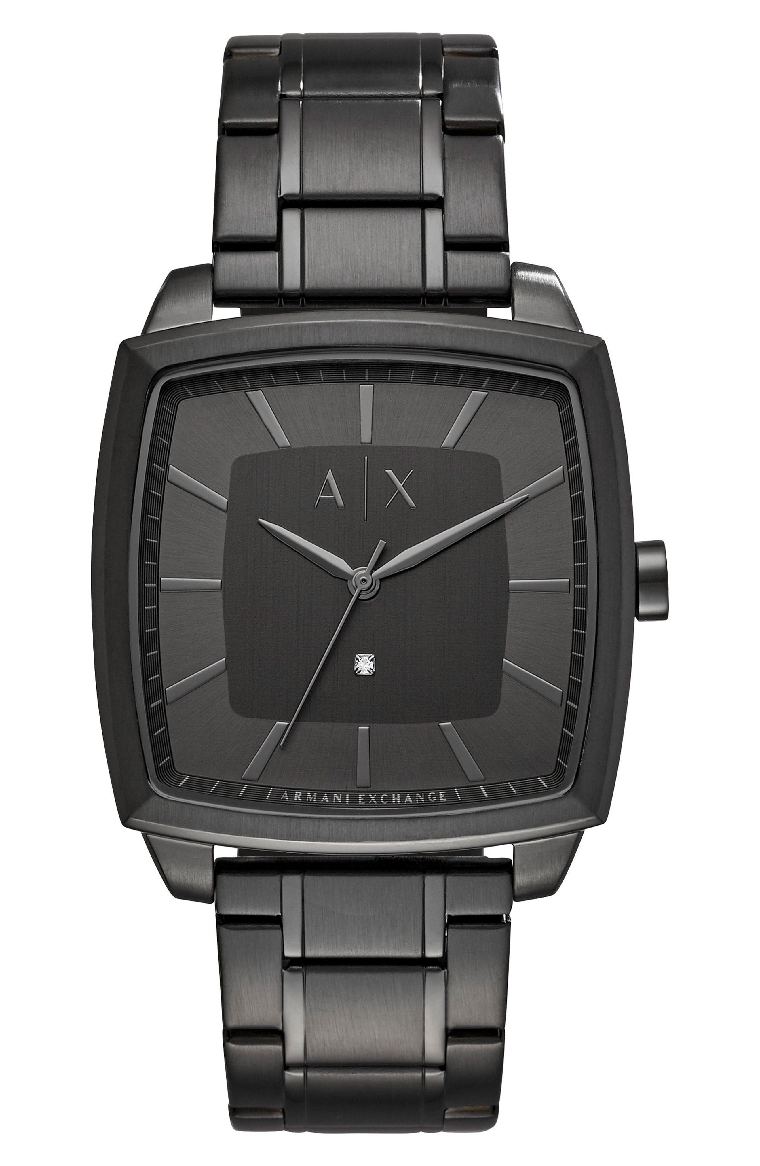 AX Armani Exchange Square Bracelet Watch, 40mm