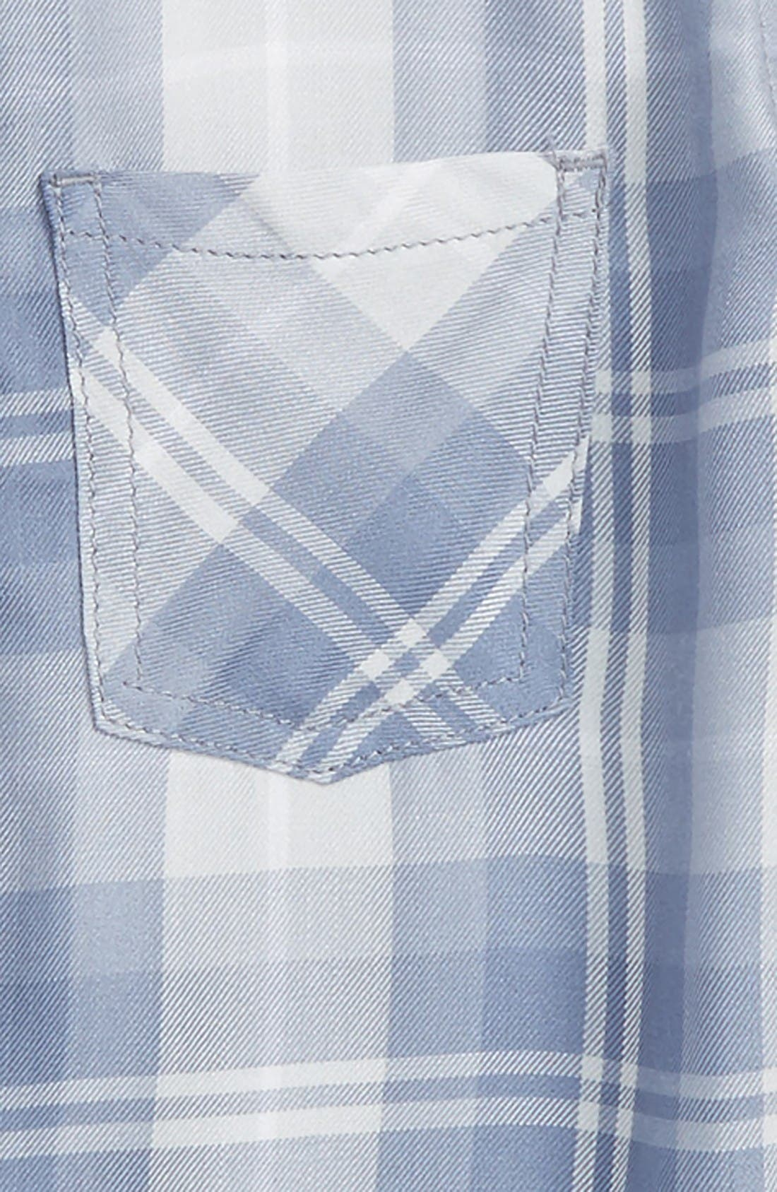 Fire Plaid Woven Shirt,                             Alternate thumbnail 2, color,                             Blue/ Grey Plaid