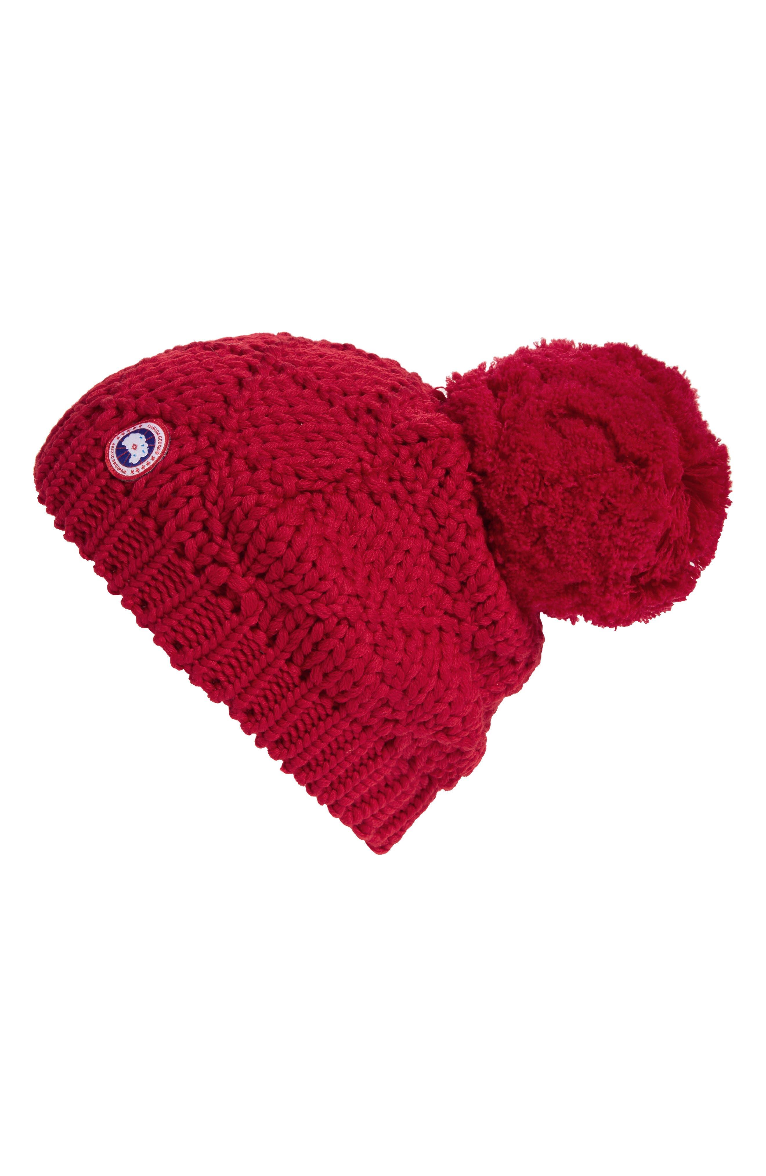 Alternate Image 1 Selected - Canada Goose Pom Merino Wool Beanie