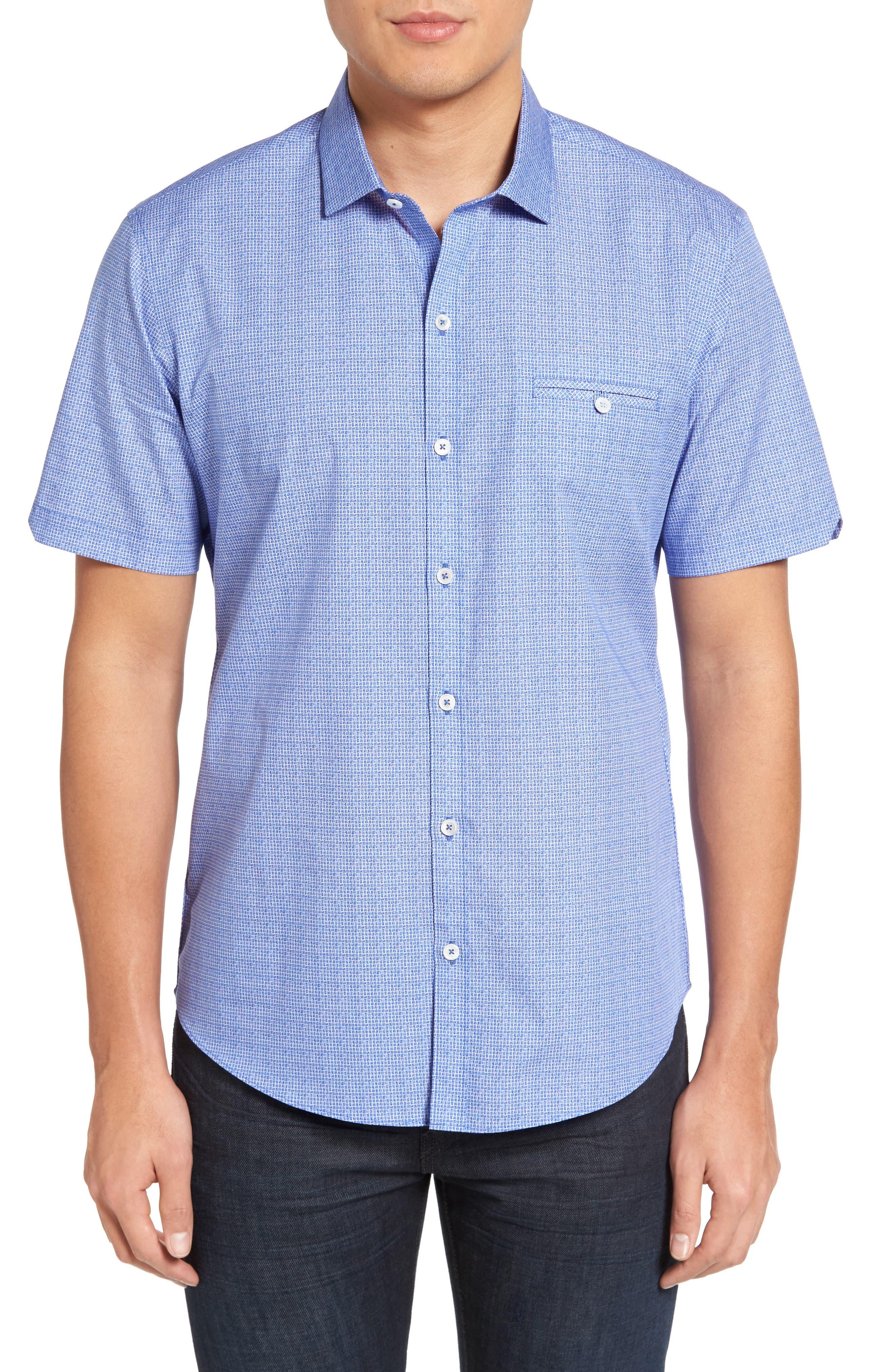 Zachary Print Garcia Print Sport Shirt,                         Main,                         color, Pacific