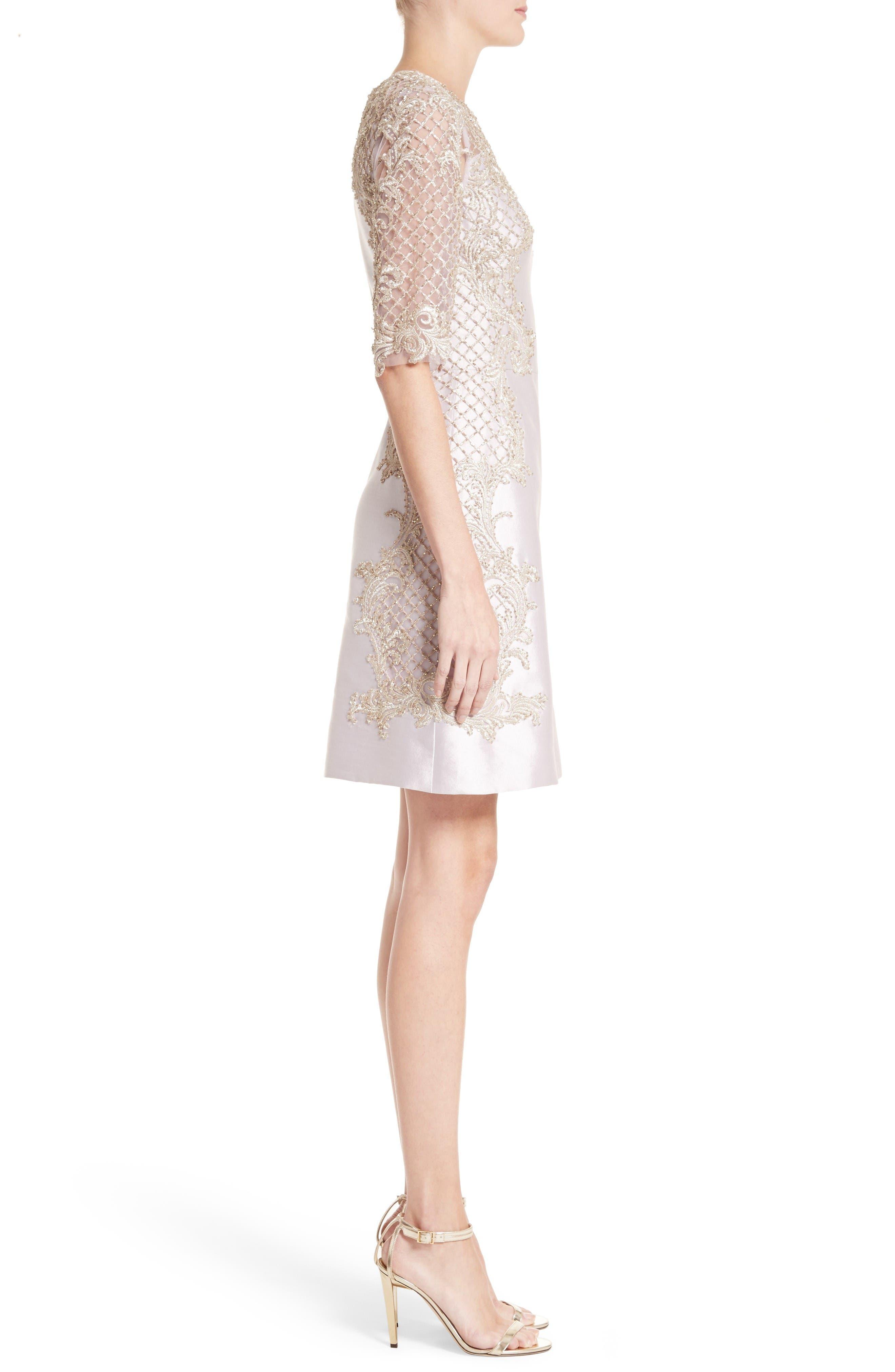 Alternate Image 4  - Marchesa Embellished Tulle & Wool Dress