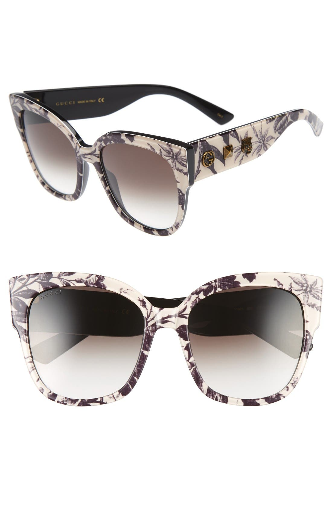 Main Image - Gucci 55mm Butterfly Sunglasses