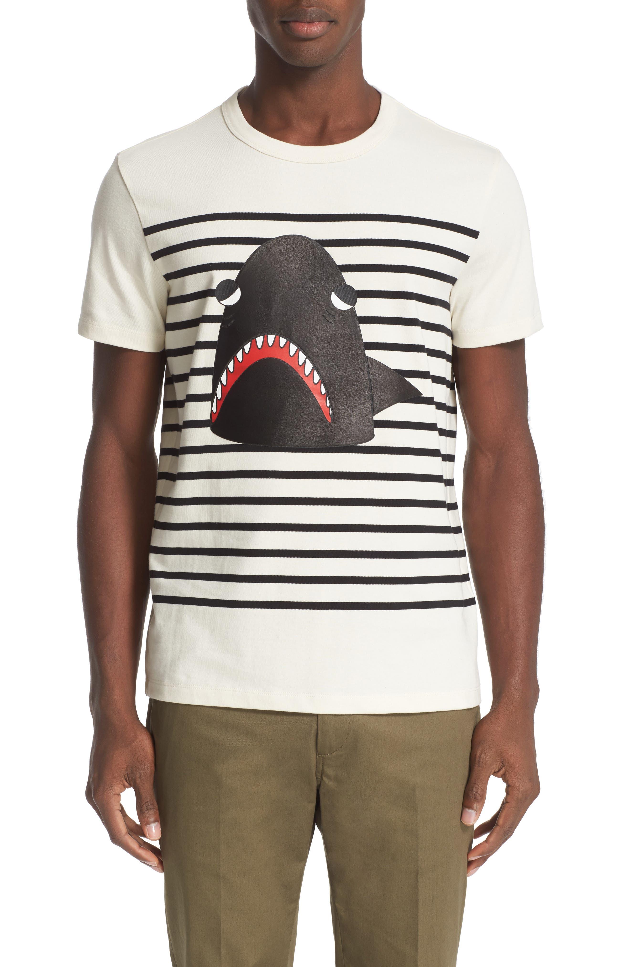 Stripe Graphic T-Shirt,                         Main,                         color, Cream/ Black