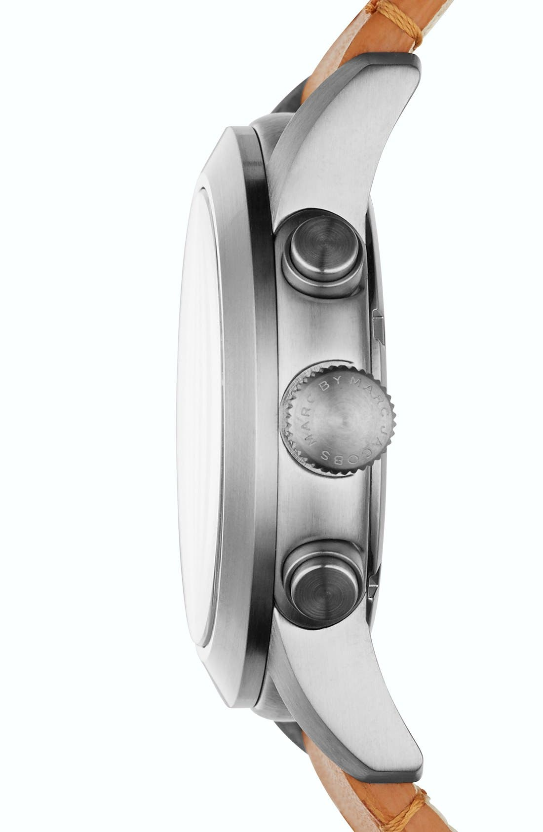 Alternate Image 2  - MARC BY MARC JACOBS 'Larry' Chronograph Leather Strap Watch, 46mm