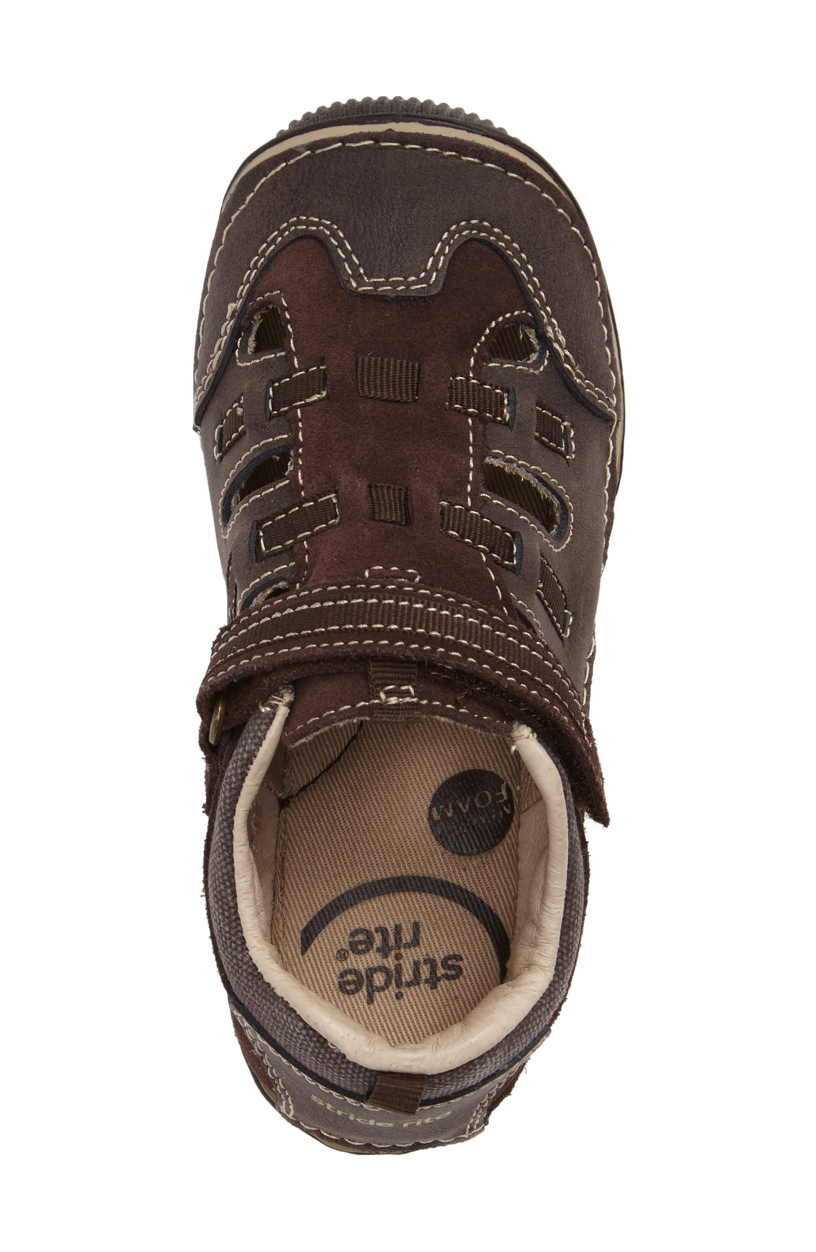 Reggie Cutout Sneaker,                             Alternate thumbnail 3, color,                             Brown Leather