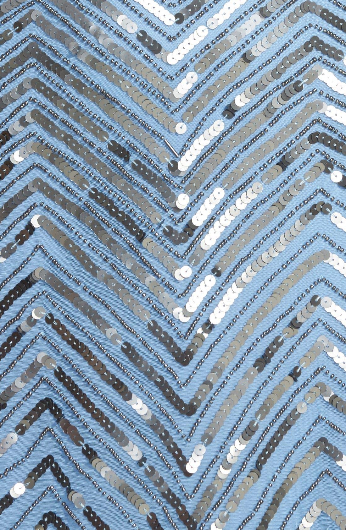 Alternate Image 3  - Adrianna Papell Cross Back Sequin Blouson Gown
