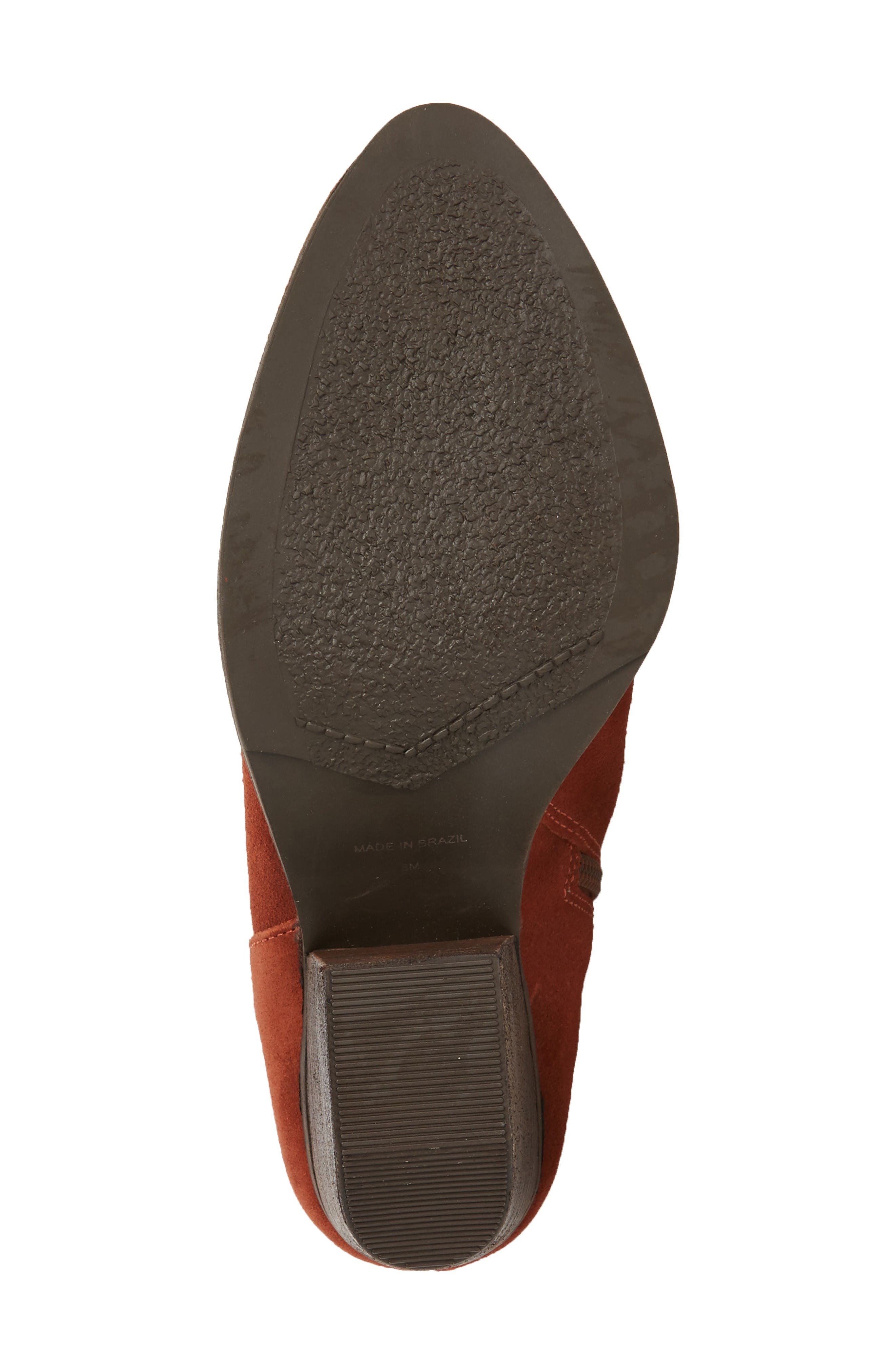 Society Bootie,                             Alternate thumbnail 4, color,                             Rust Suede