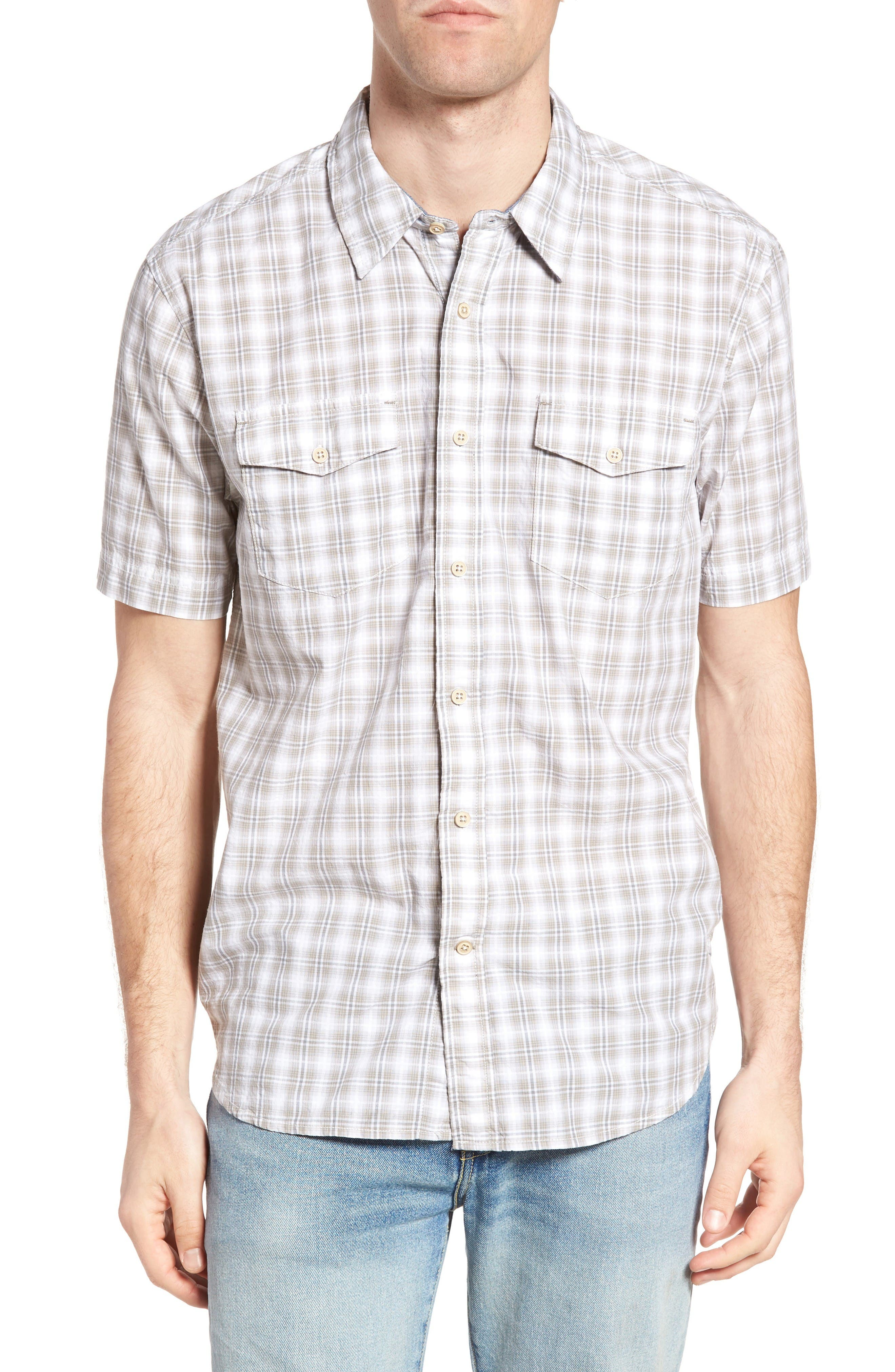 Alternate Image 1 Selected - True Grit Soho Plaid Cotton Sport Shirt