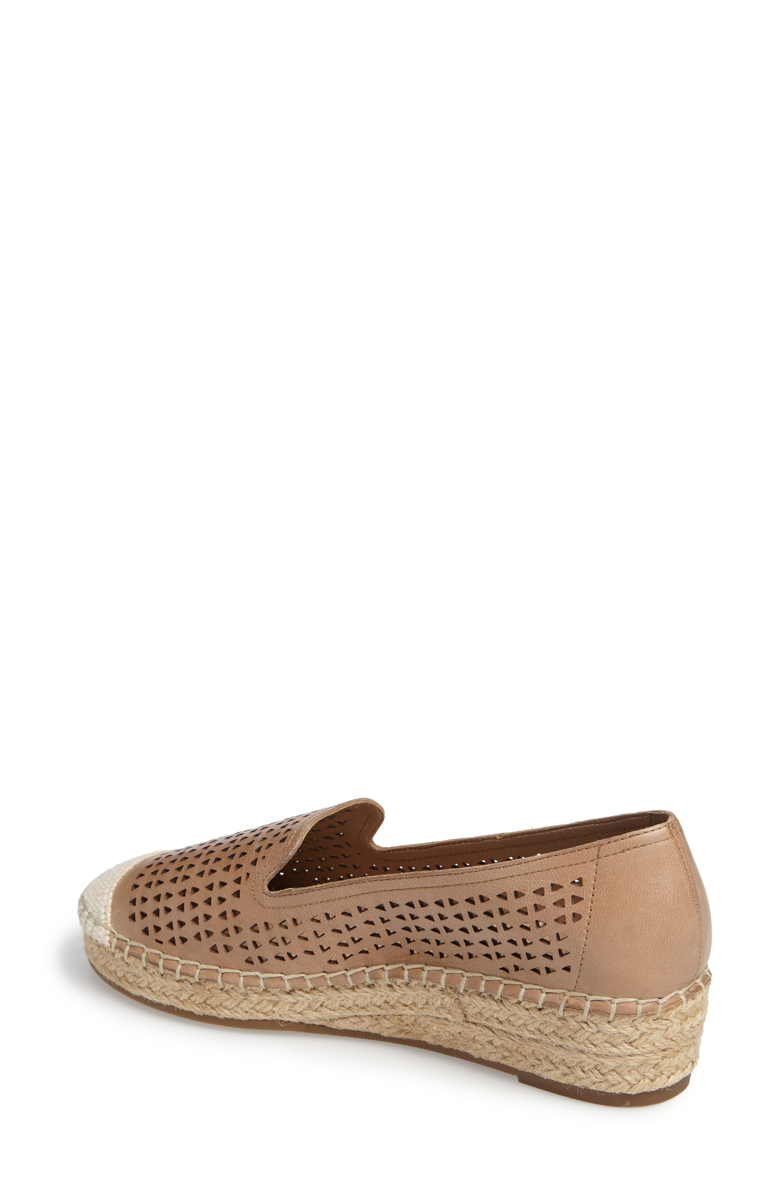 Channing Cutout Espadrille Loafer,                             Alternate thumbnail 2, color,                             Saddle Leather