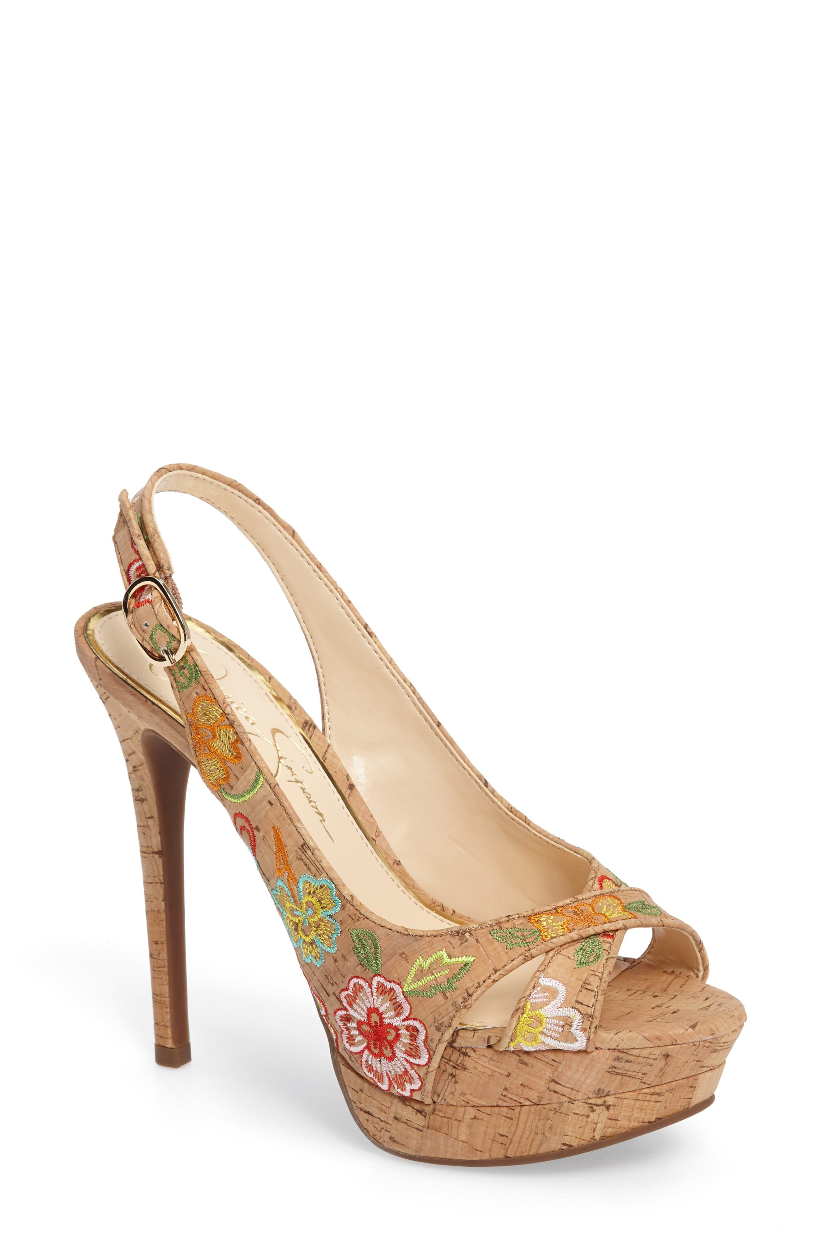 Alternate Image 1 Selected - Jessica Simpson Willey Platform Sandal (Women)