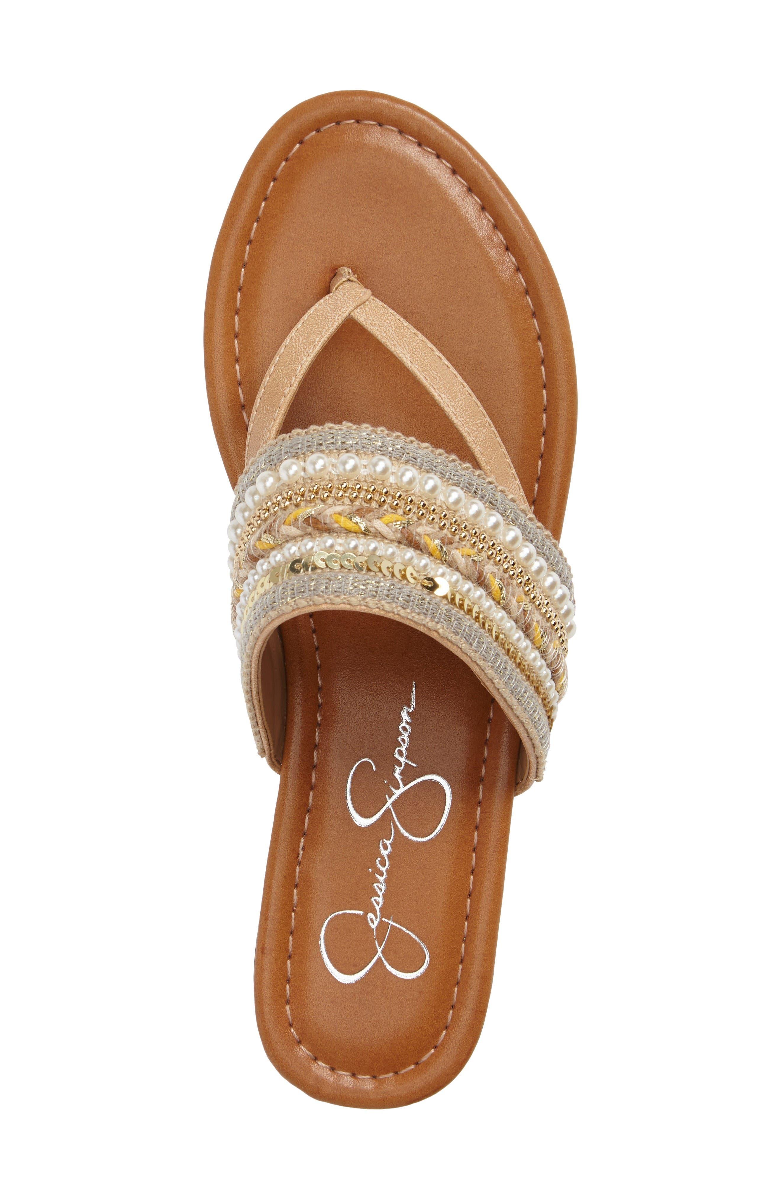 Alternate Image 3  - Jessica Simpson Ronette Embellished Flip Flop (Women)