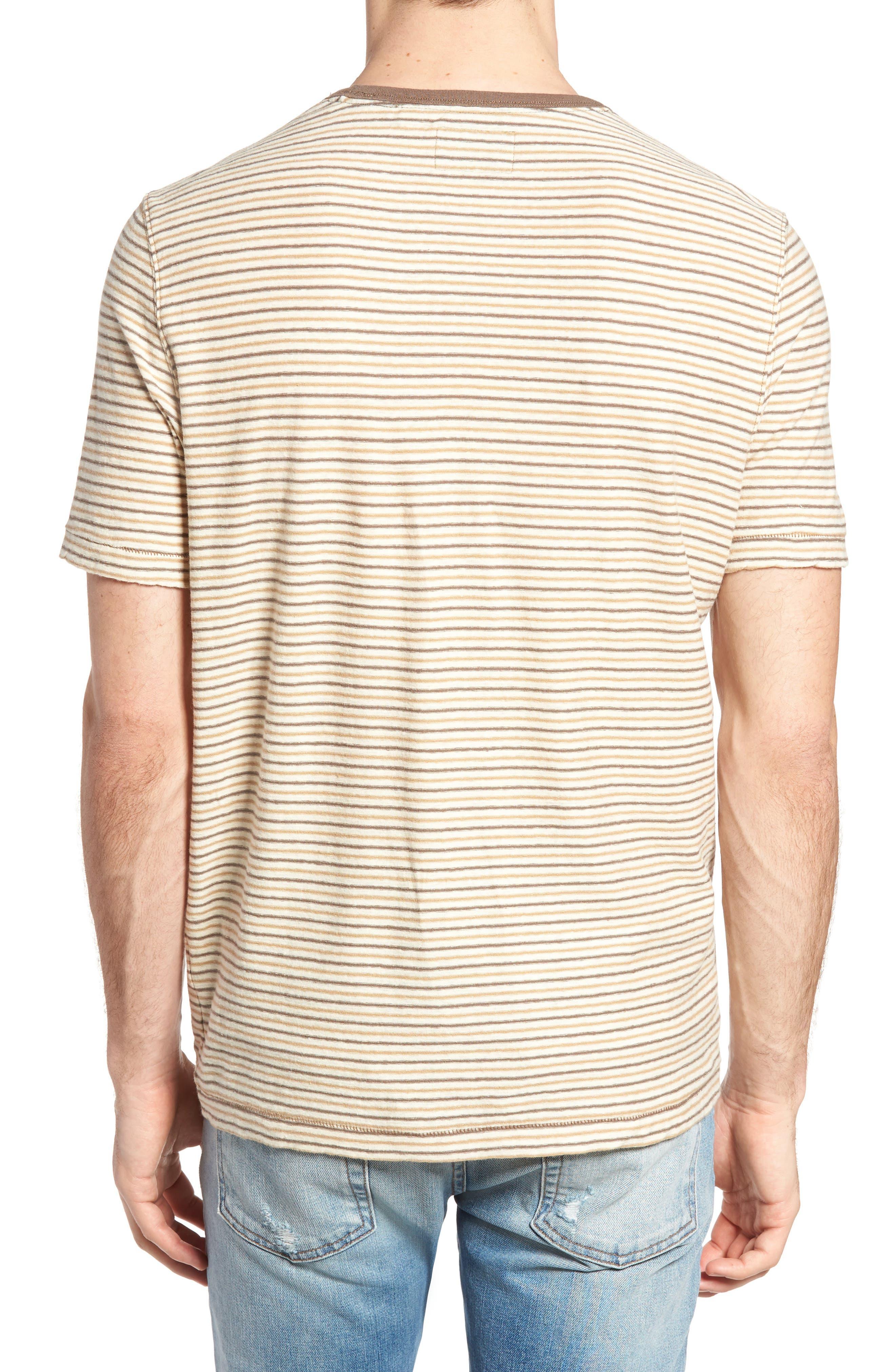 Bengal Reverse Stripe T-Shirt,                             Alternate thumbnail 2, color,                             Angora