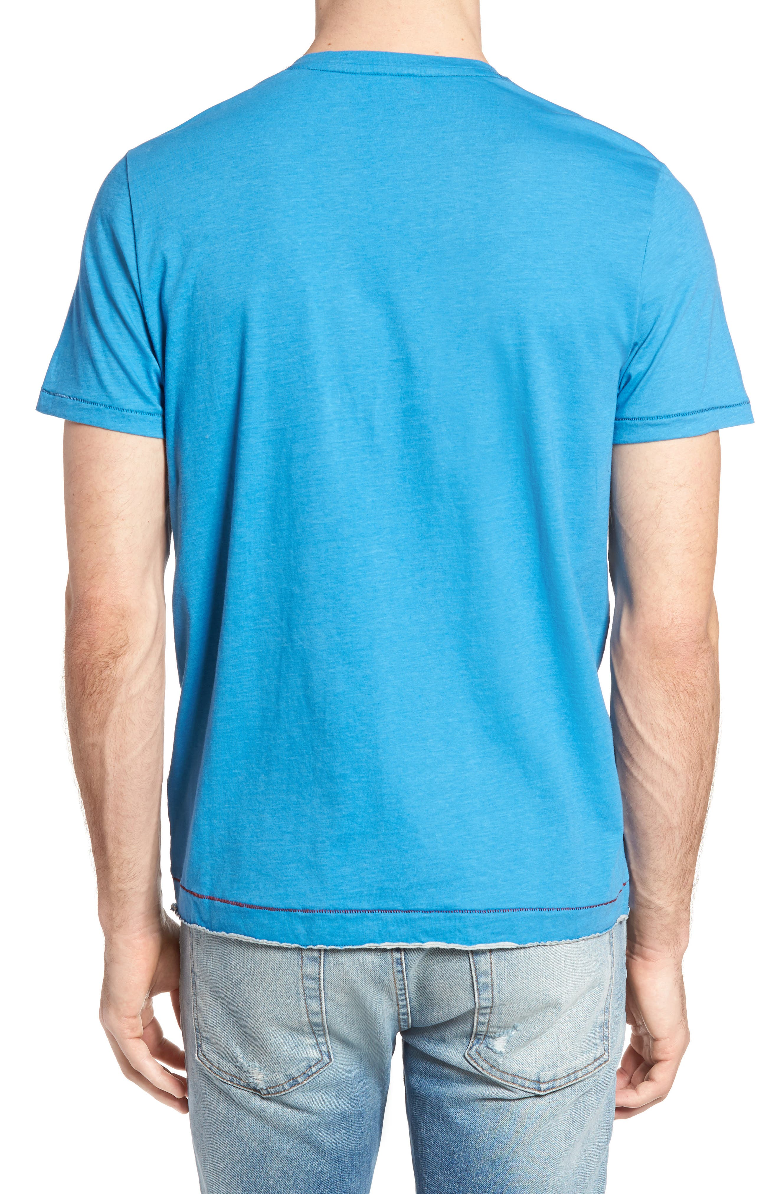 Gus Pad Pocket V-Neck T-Shirt,                             Alternate thumbnail 2, color,                             Mykonos Blue