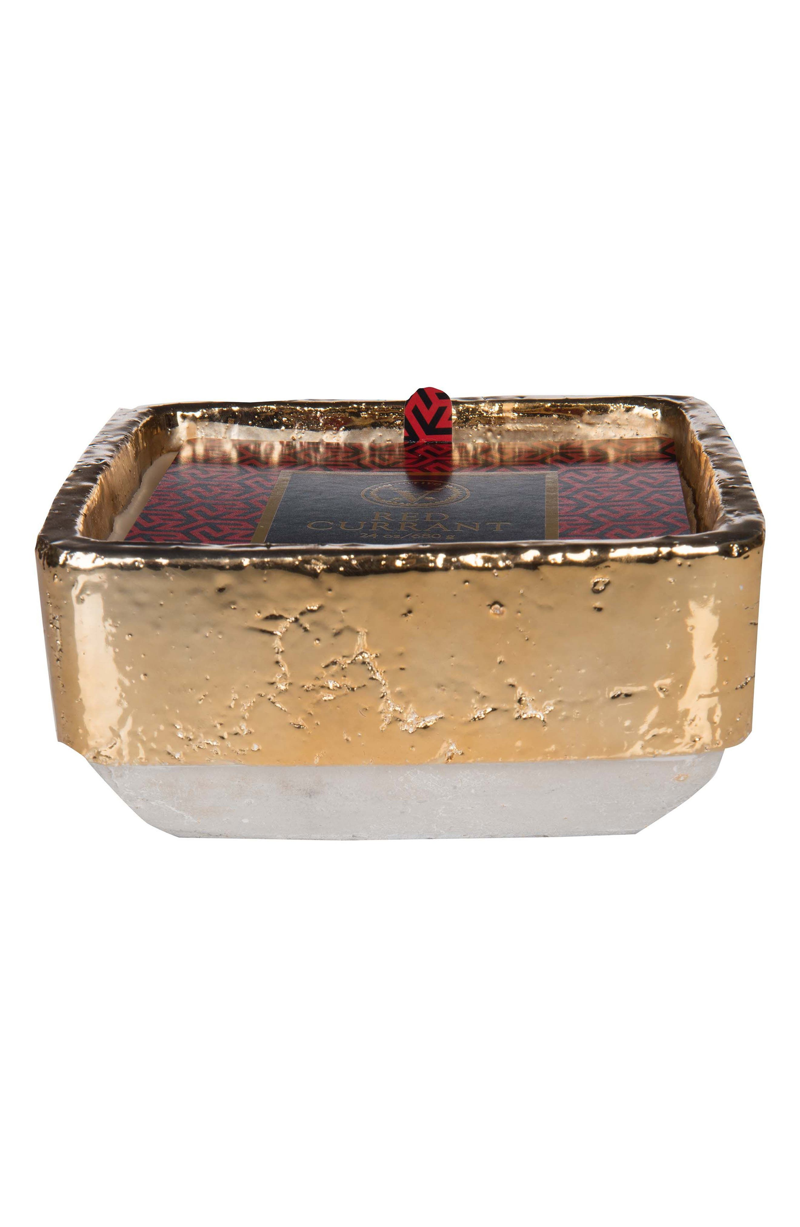 Red Currant Collection - Industrial Gilt Candle,                             Main thumbnail 1, color,                             Red Currant