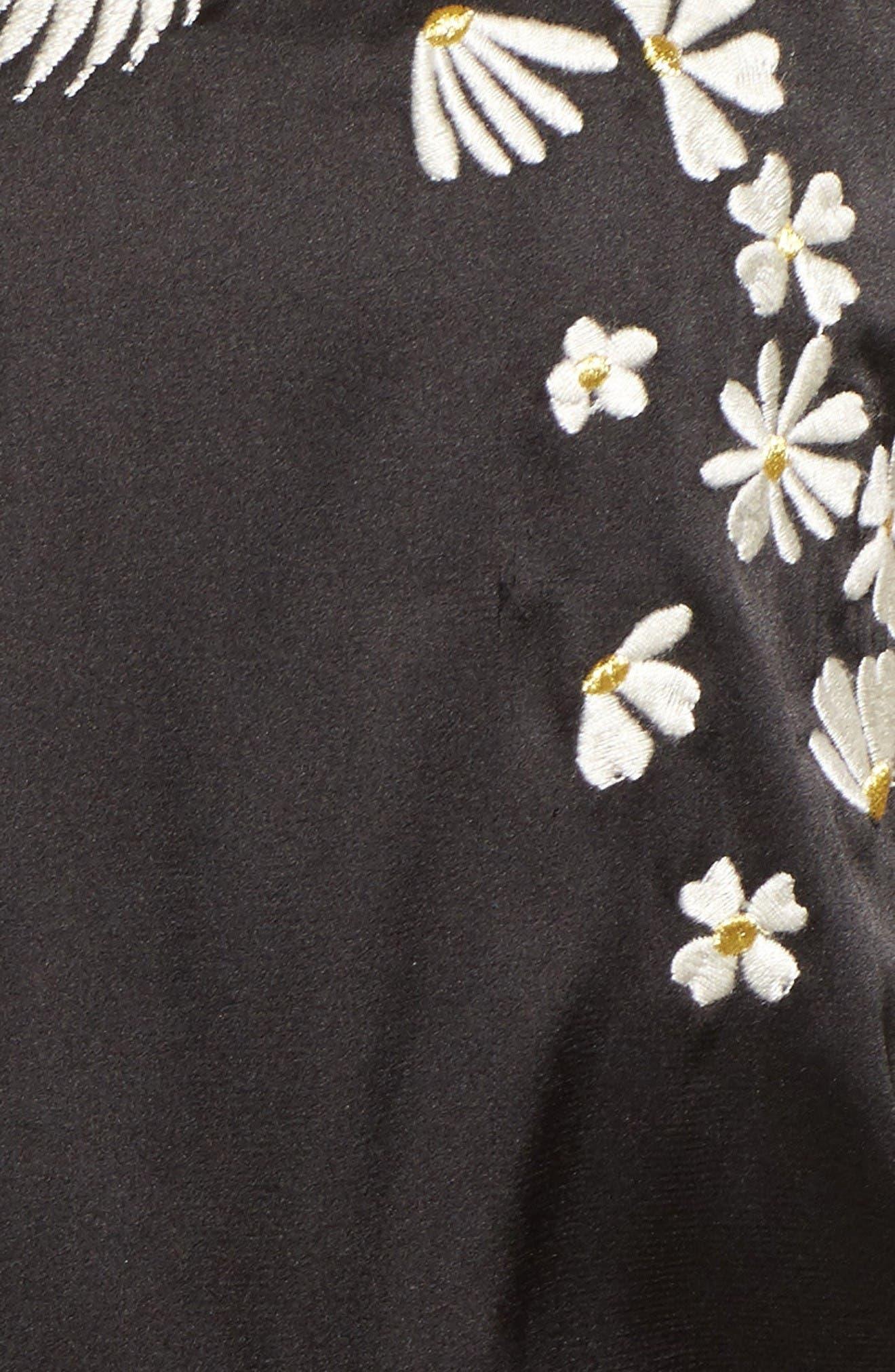 Alternate Image 5  - Pam & Gela Embellished Satin Bomber Jacket