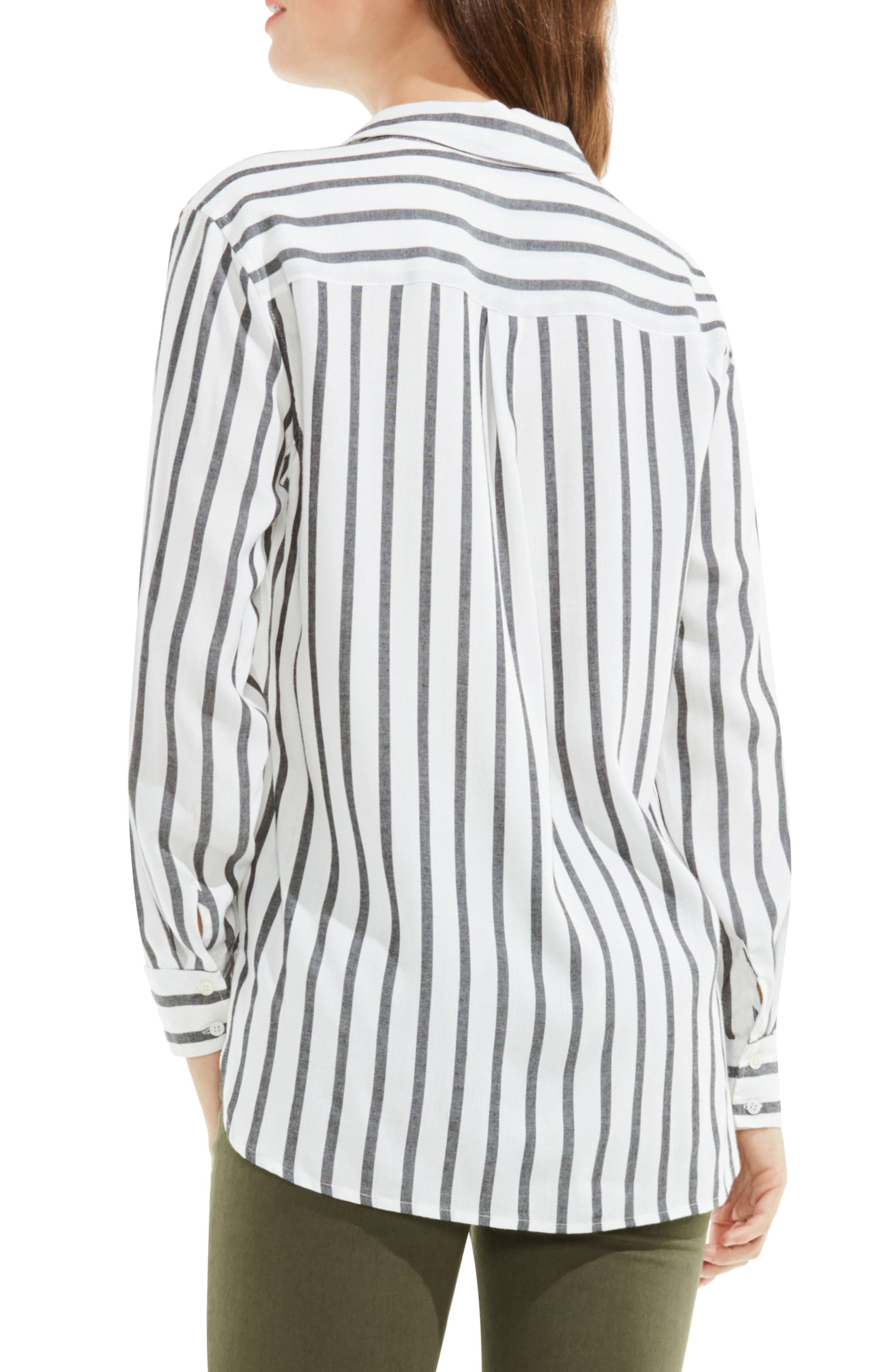 Alternate Image 2  - Two by Vince Camuto Stripe Utility Shirt
