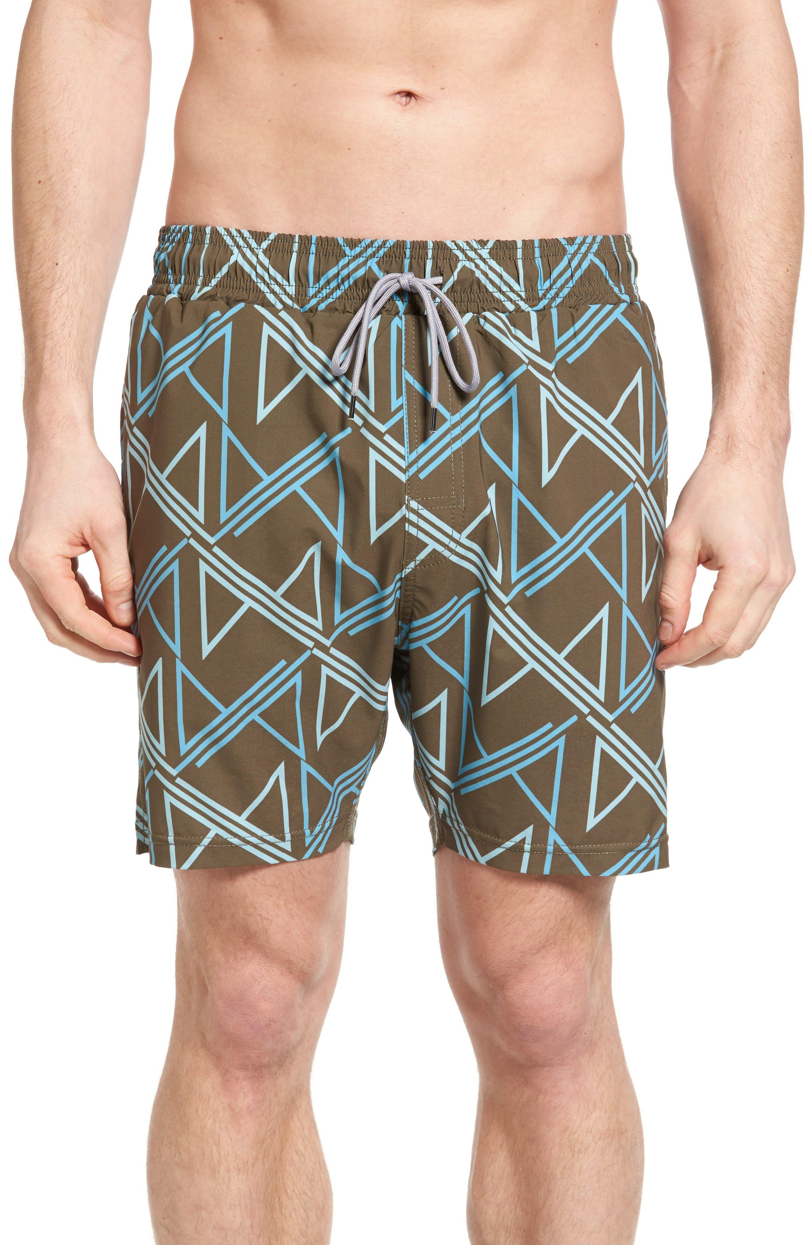 Lanai Collection Elastic Waist Swim Shorts