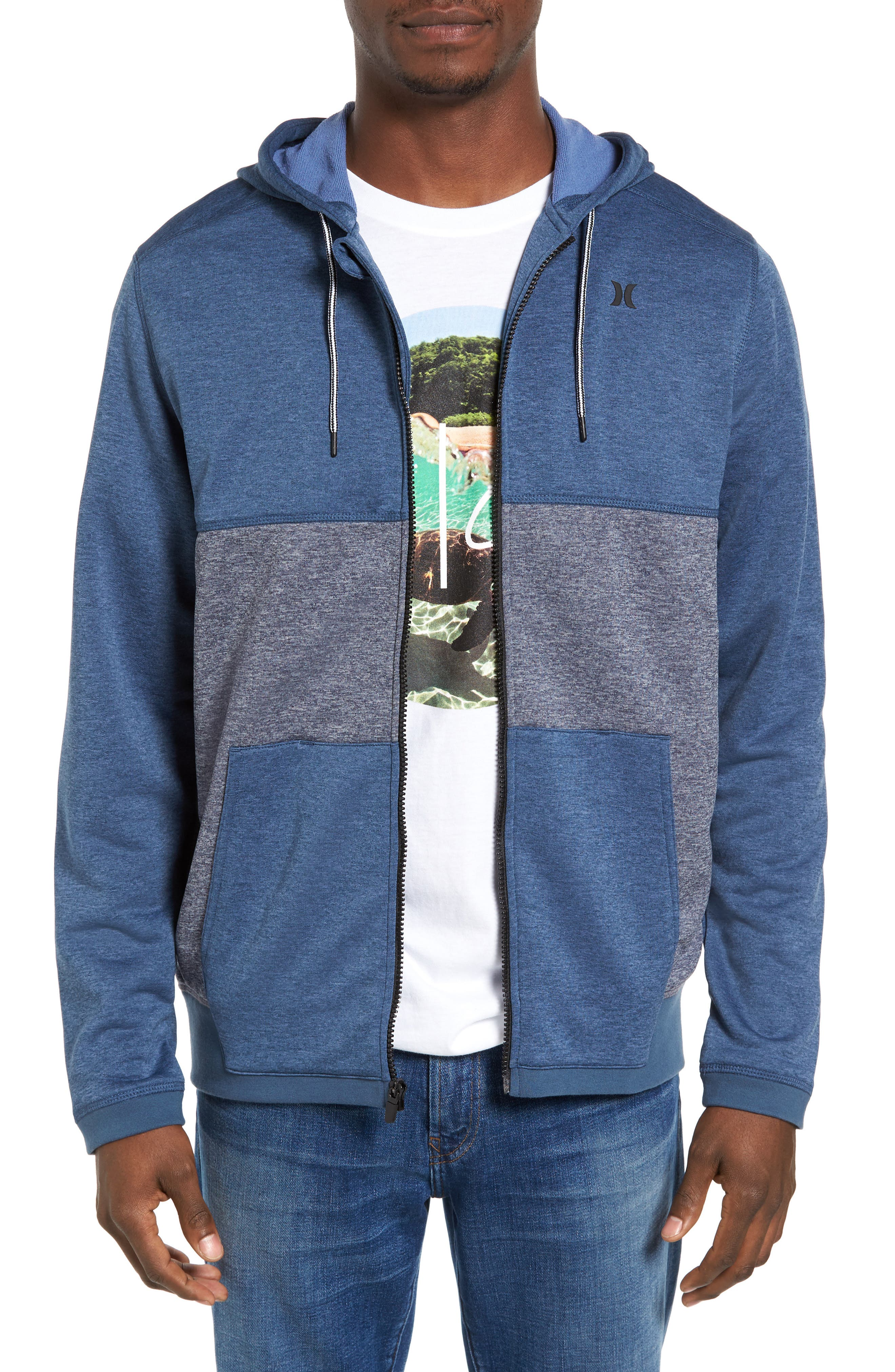 Dri-FIT Disperse Colorblock Zip Hoodie,                         Main,                         color, Squadron B