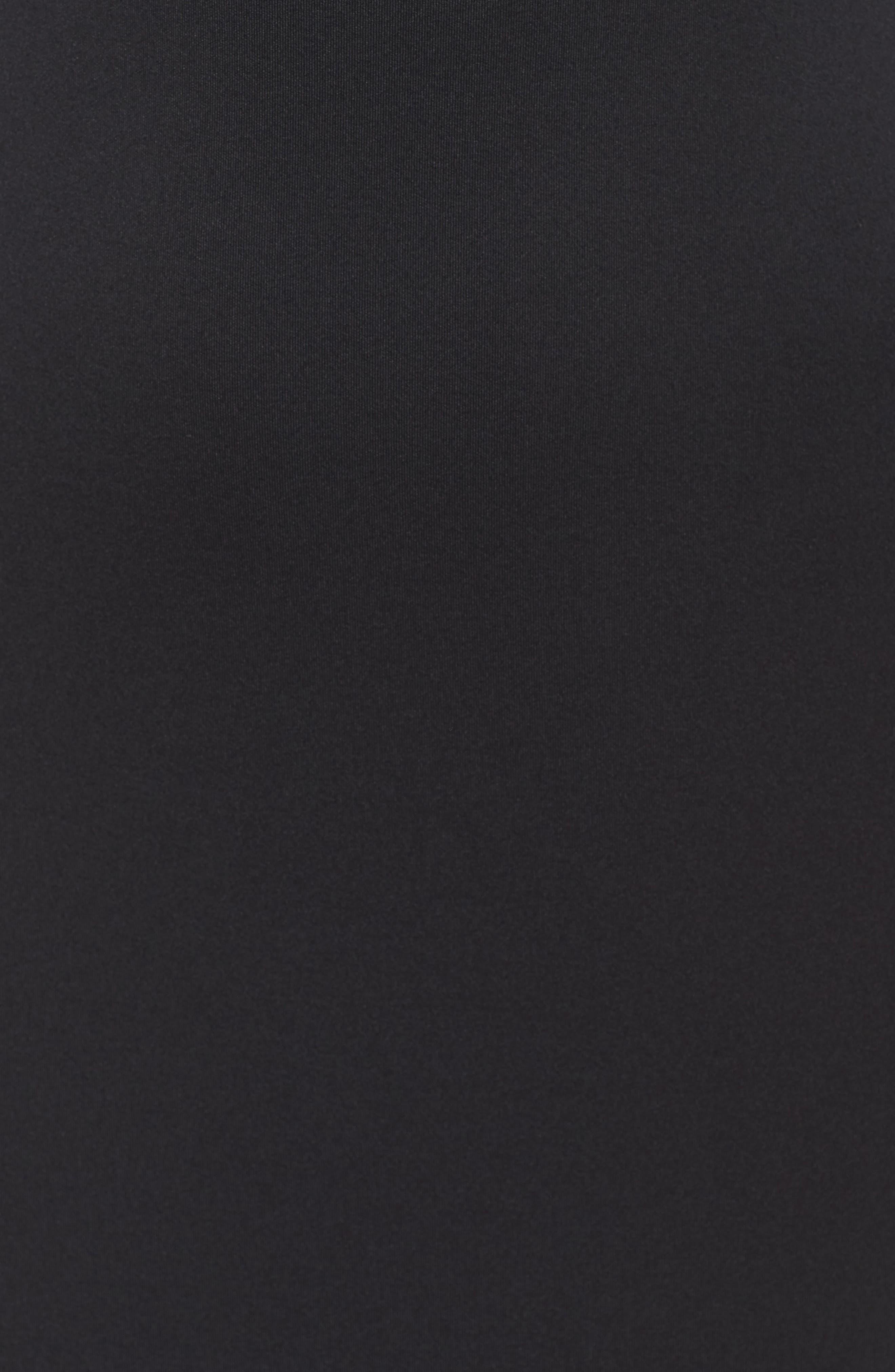 Fringe Sheath Dress,                             Alternate thumbnail 6, color,                             Black