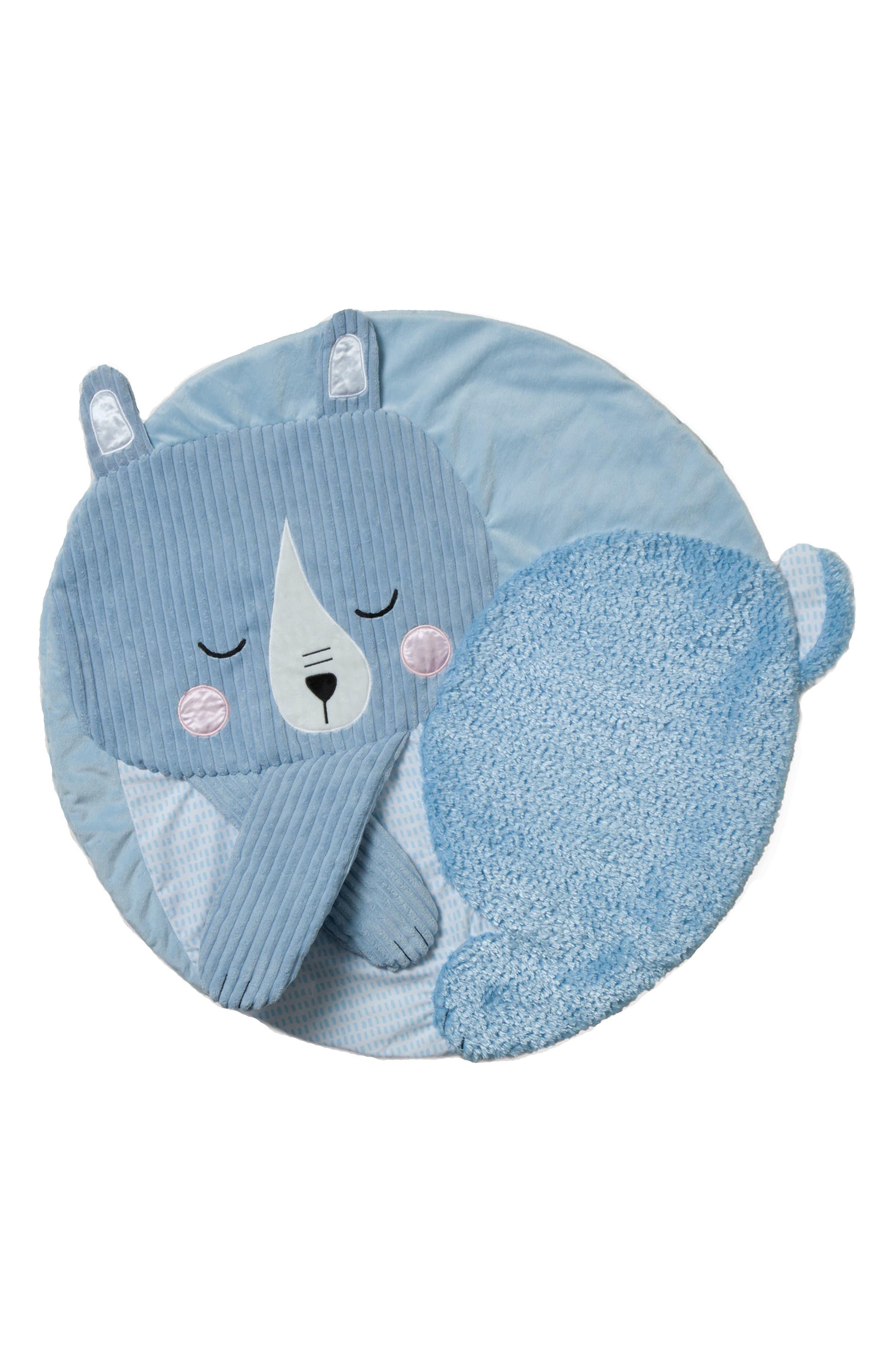 Bear Tactile Playmat,                         Main,                         color, Blue