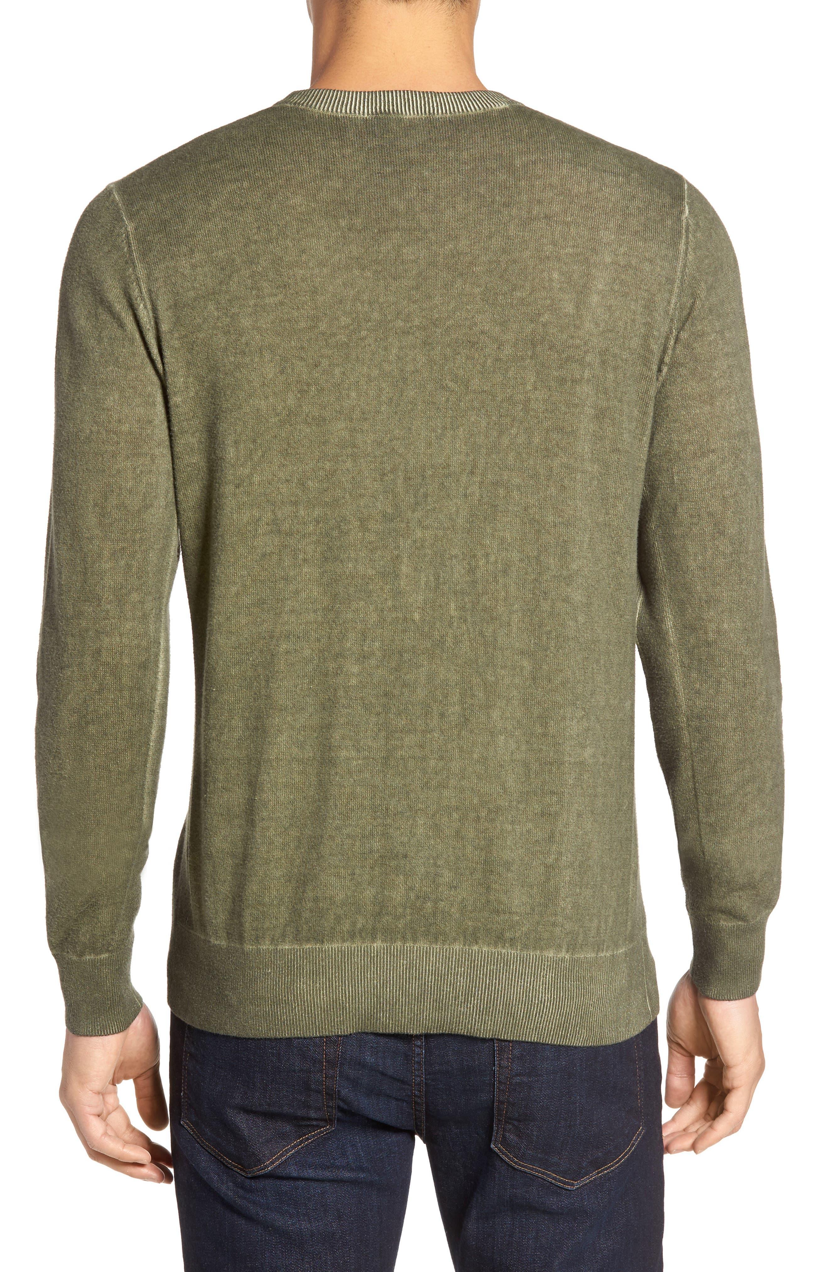 Mace Crewneck Sweater,                             Alternate thumbnail 2, color,                             Moonwash Caper Green