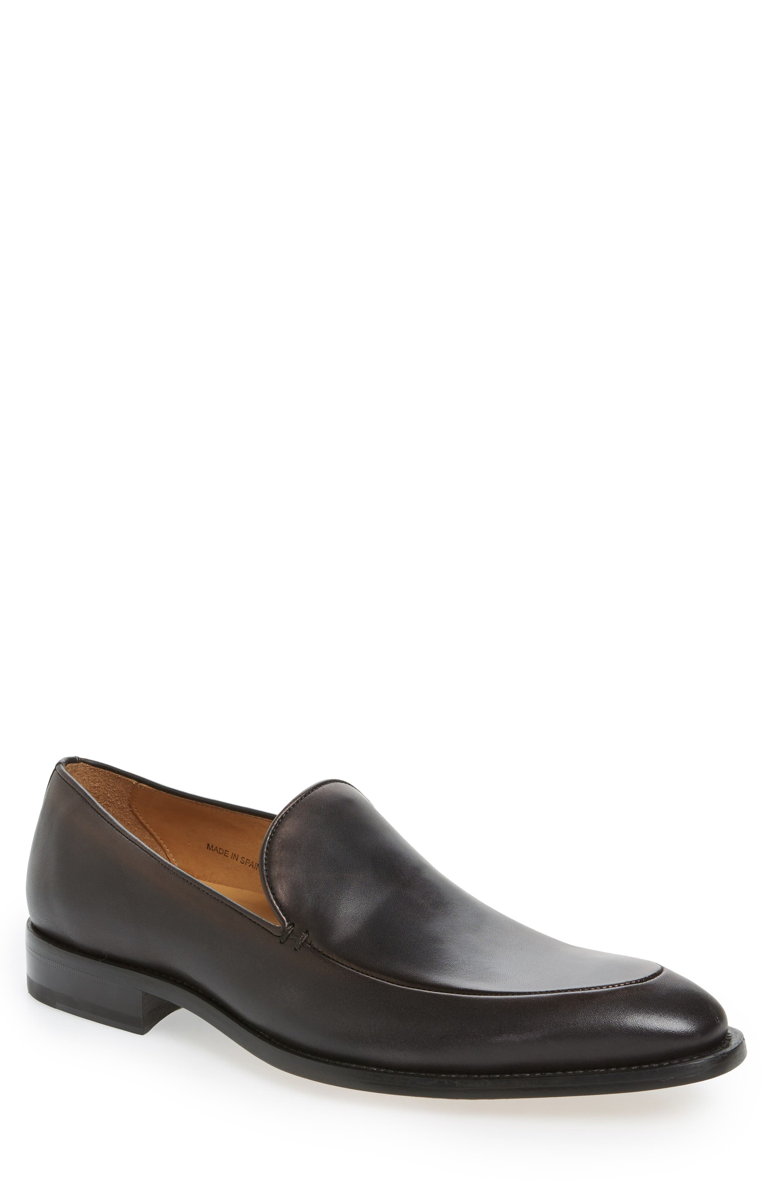 Strauss Venetian Loafer,                             Main thumbnail 1, color,                             Graphite Leather